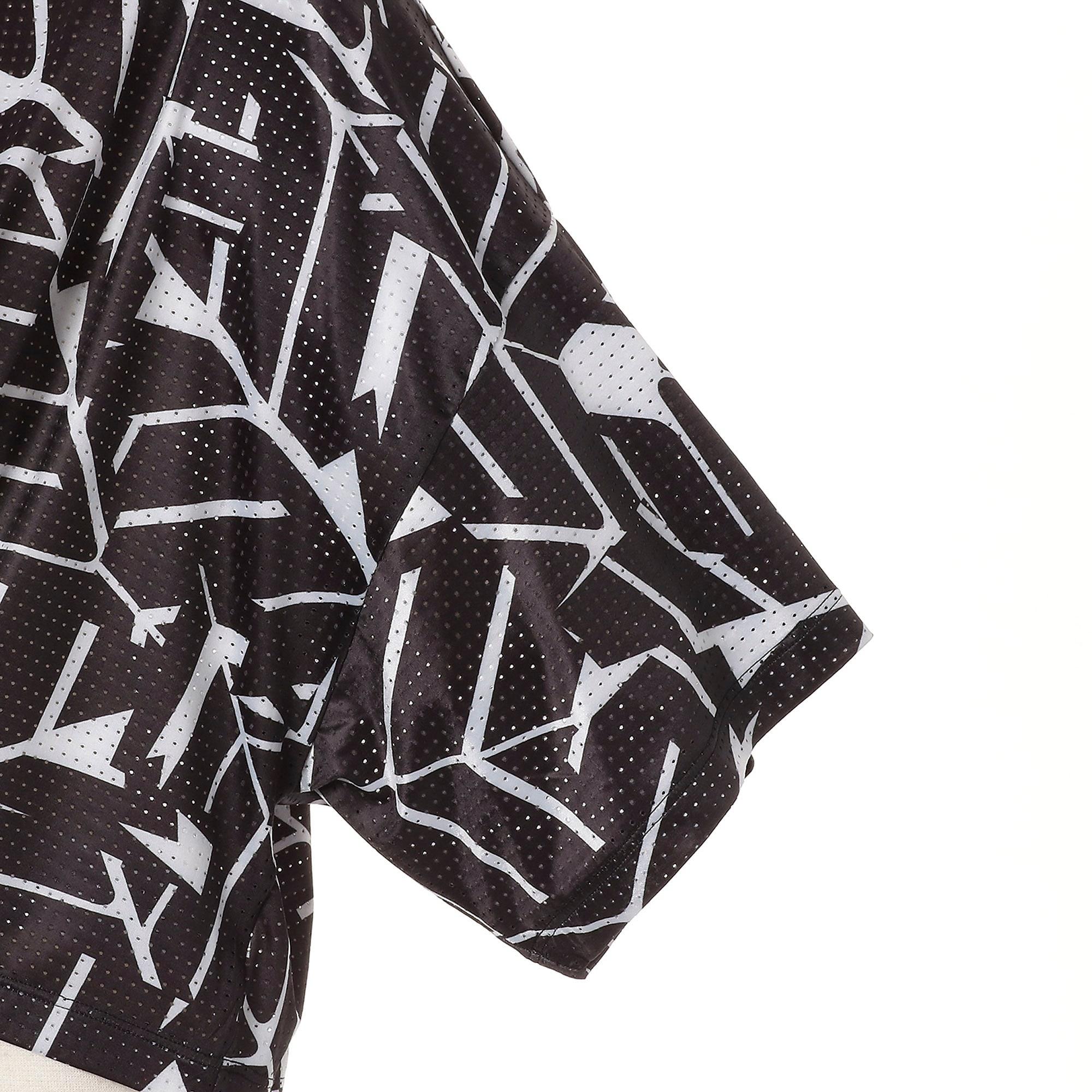 Thumbnail 8 of TZ コスミック ウィメンズ SS Tシャツ 半袖, puma black-puma white AOP, medium-JPN