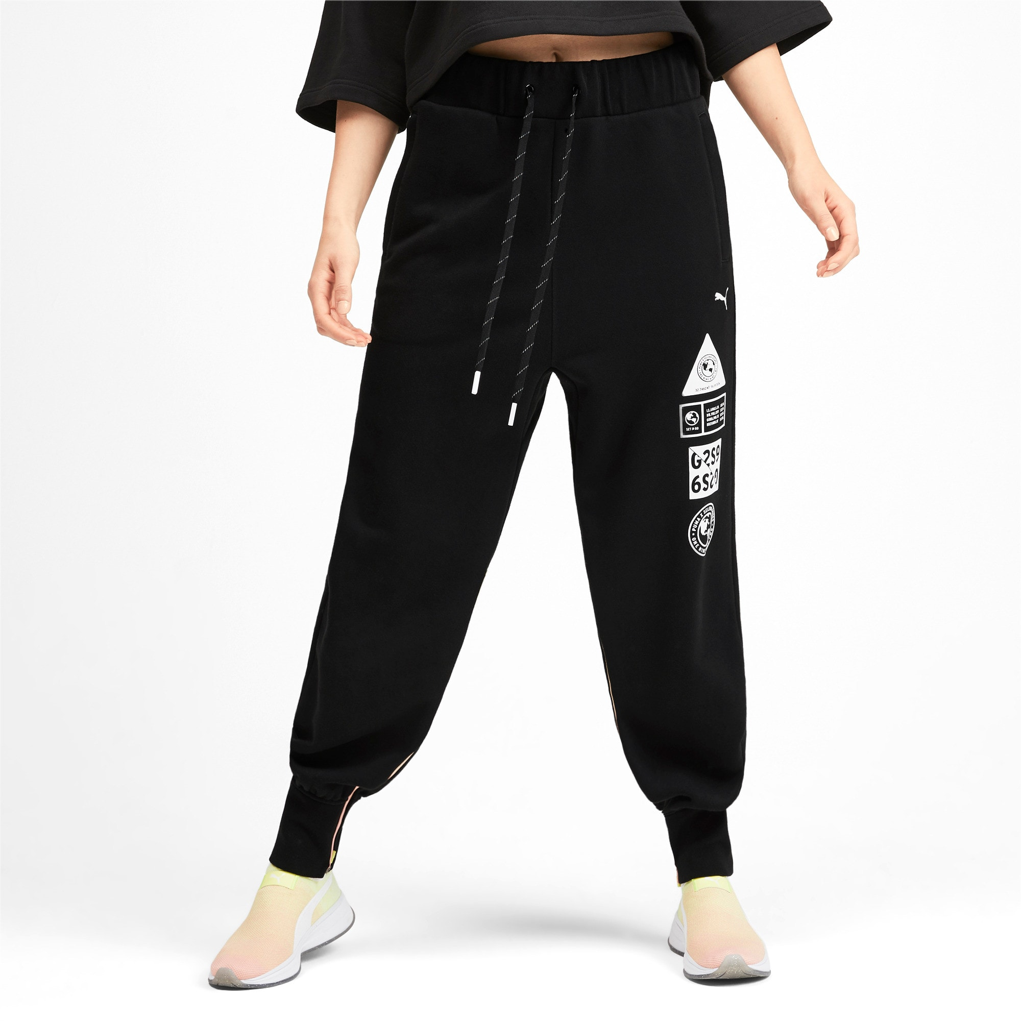 Thumbnail 1 of PUMA x SELENA GOMEZ Women's Sweatpants, Puma Black, medium