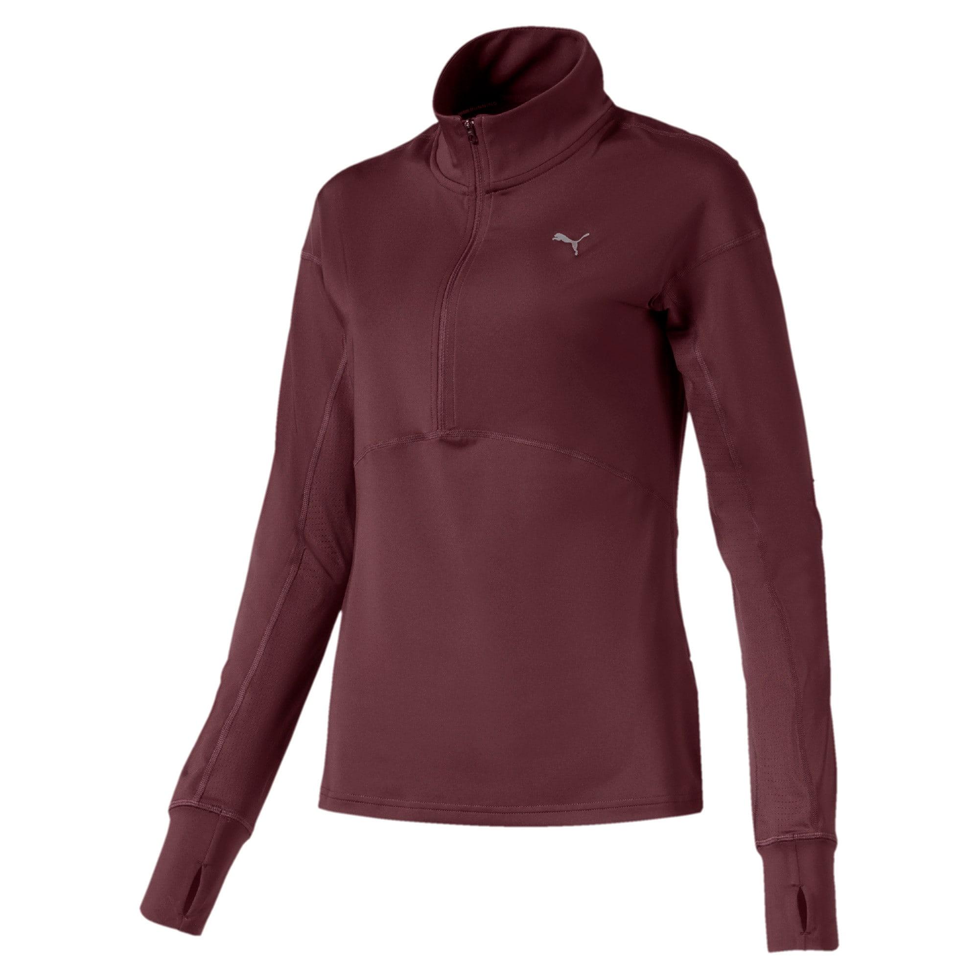 Thumbnail 4 of ADHM 2019 IGNITE Long Sleeve Women's Running Pullover, Vineyard Wine, medium-IND