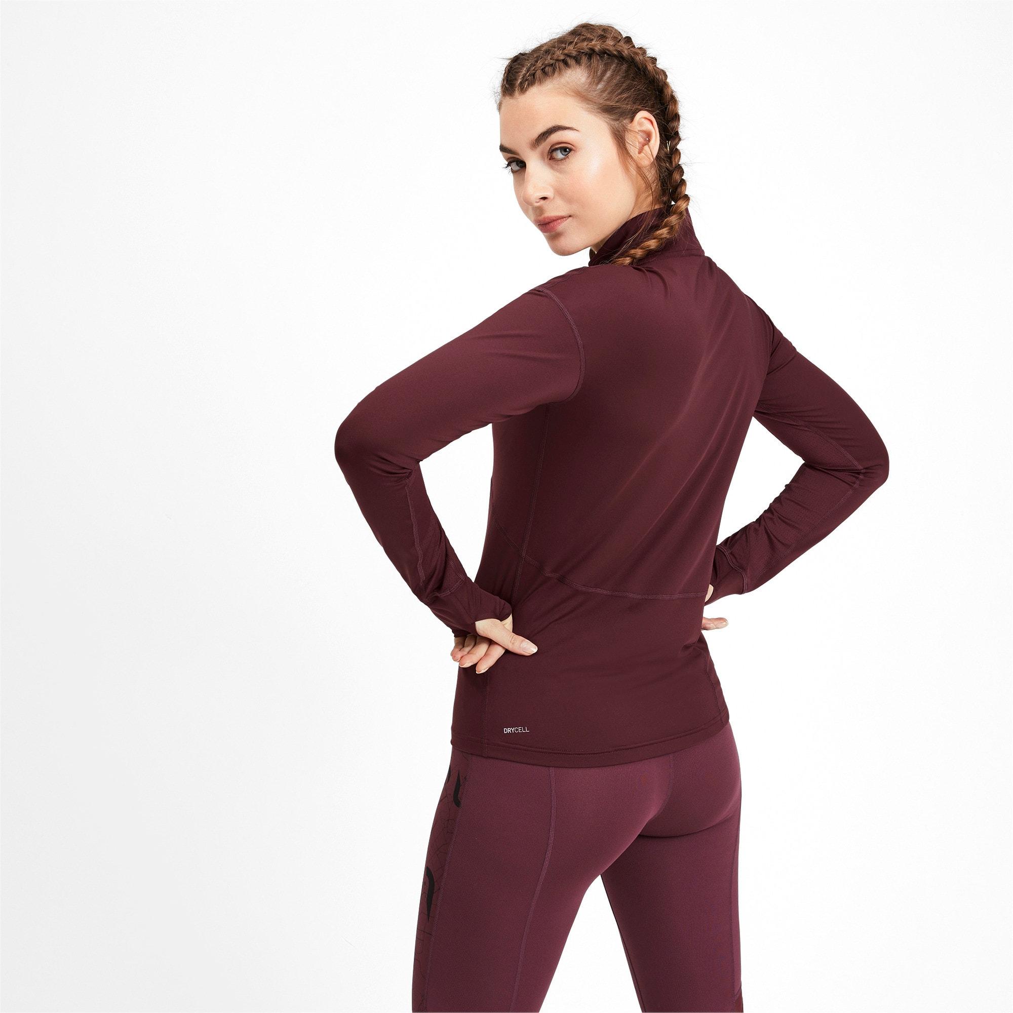 Thumbnail 2 of ADHM 2019 IGNITE Long Sleeve Women's Running Pullover, Vineyard Wine, medium-IND