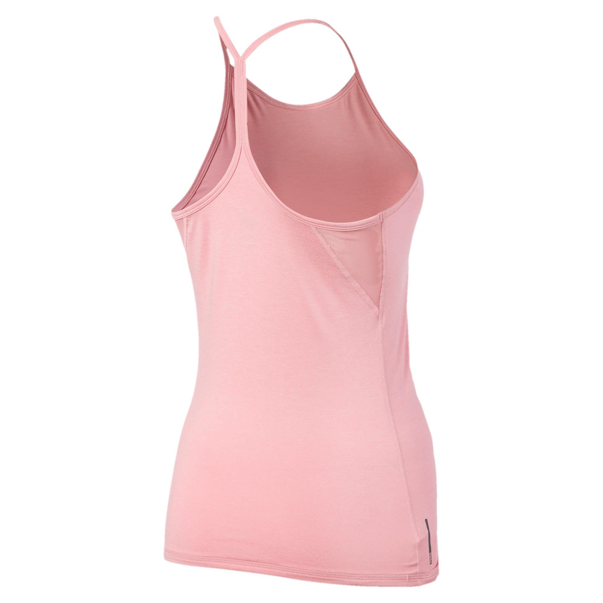 Miniatura 4 de Camiseta sin mangas Studio con espalda deportiva para mujer, Bridal Rose Heather, mediano