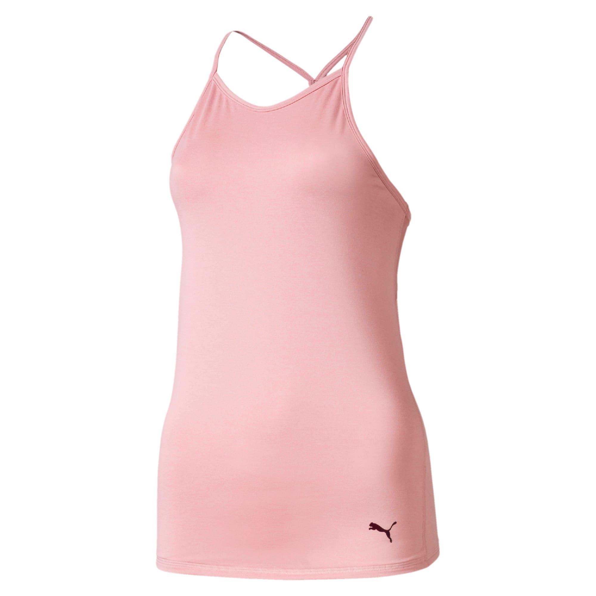 Miniatura 3 de Camiseta sin mangas Studio con espalda deportiva para mujer, Bridal Rose Heather, mediano