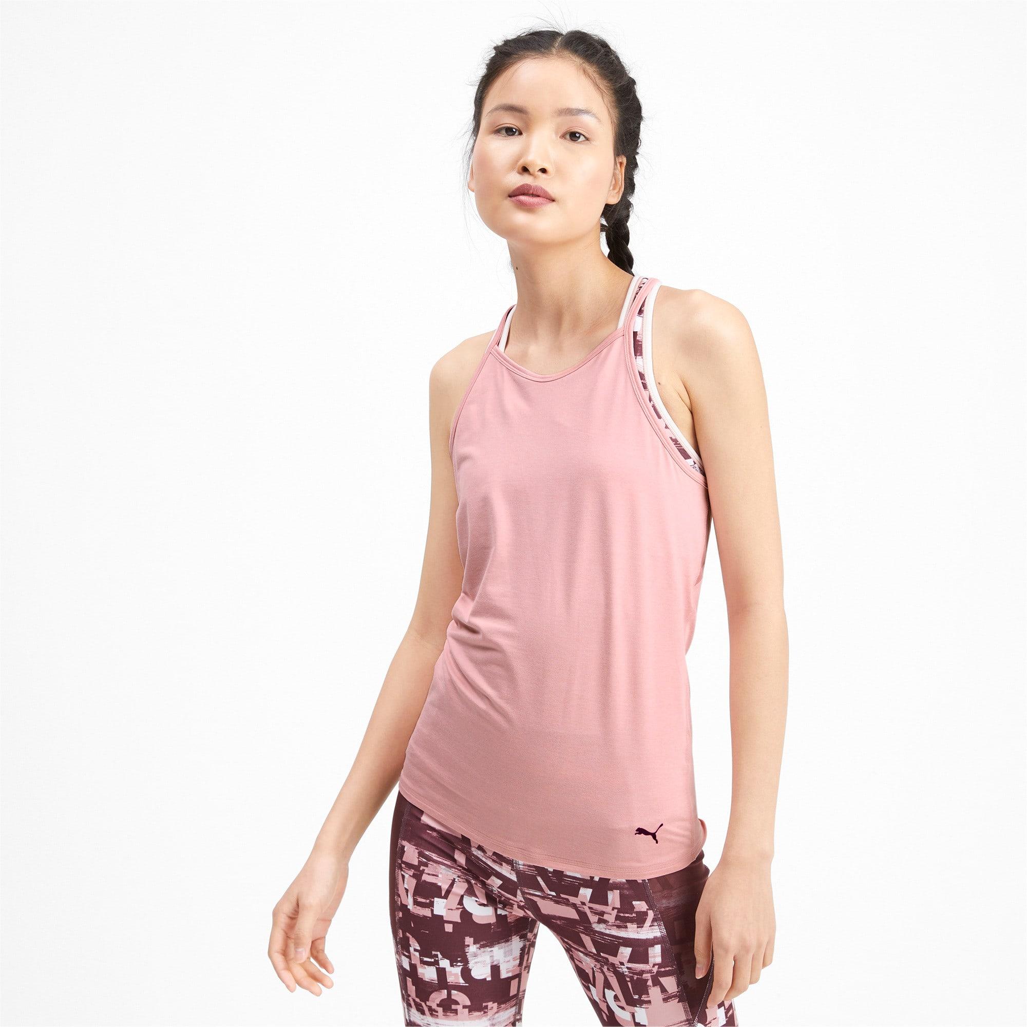 Miniatura 1 de Camiseta sin mangas Studio con espalda deportiva para mujer, Bridal Rose Heather, mediano