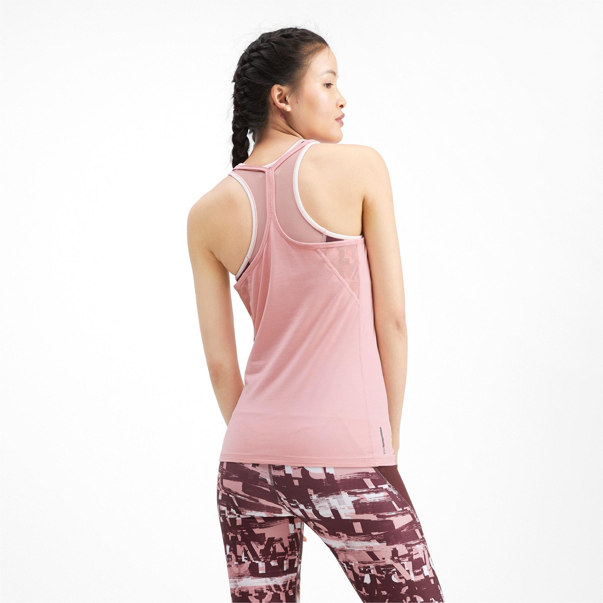 Miniatura 2 de Camiseta sin mangas Studio con espalda deportiva para mujer, Bridal Rose Heather, mediano
