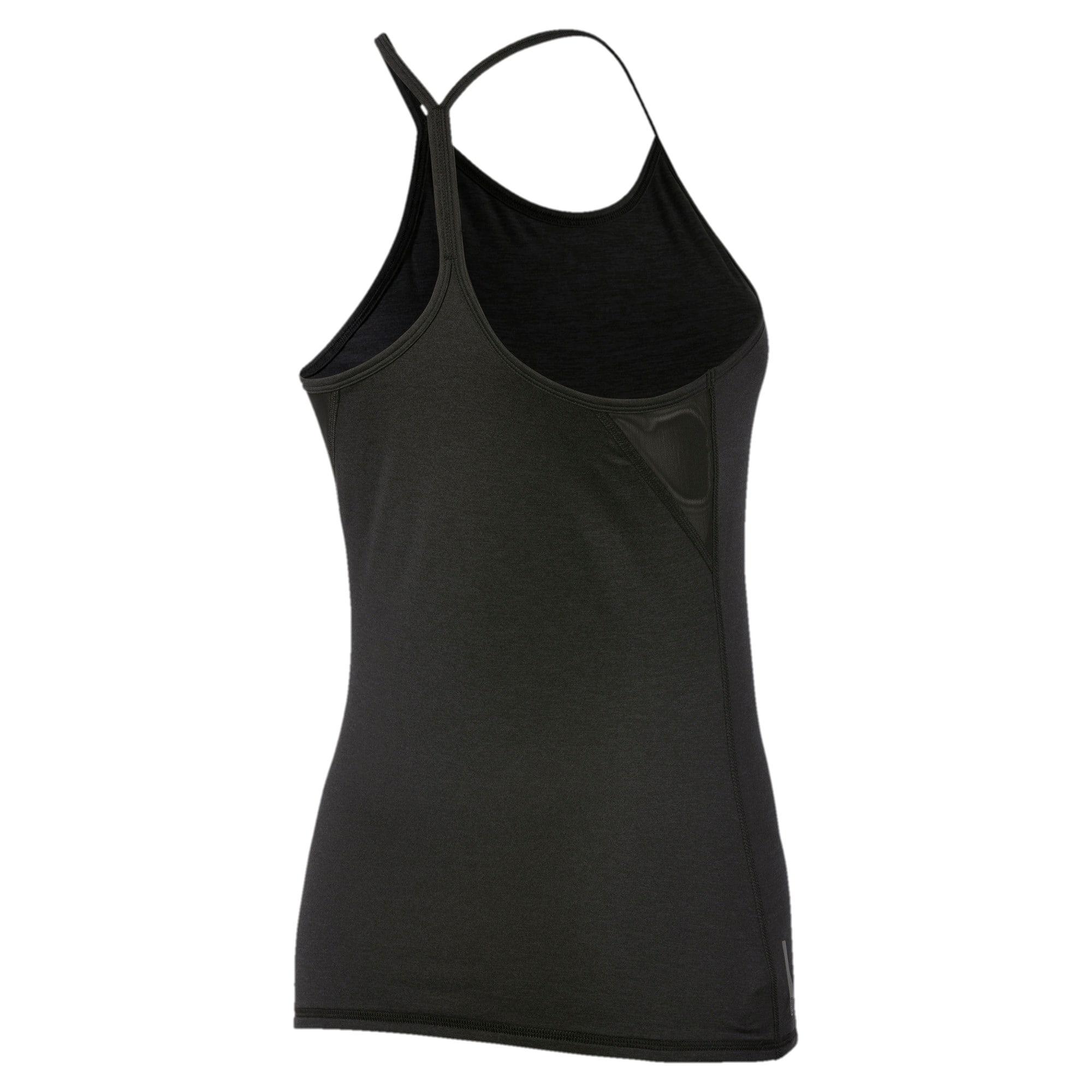 Miniatura 5 de Camiseta sin mangas Studio con espalda deportiva para mujer, Puma Black Heather, mediano