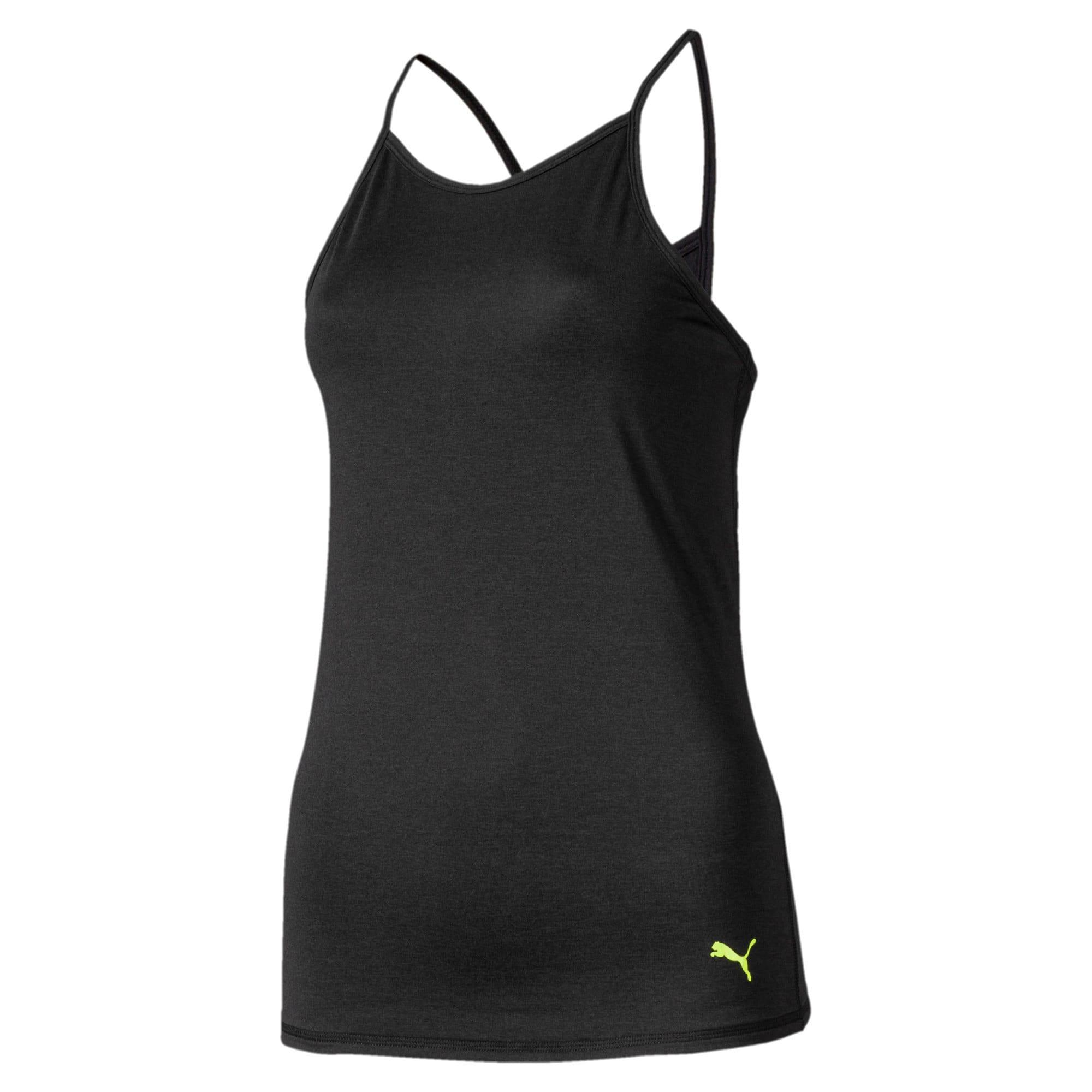 Miniatura 4 de Camiseta sin mangas Studio con espalda deportiva para mujer, Puma Black Heather, mediano