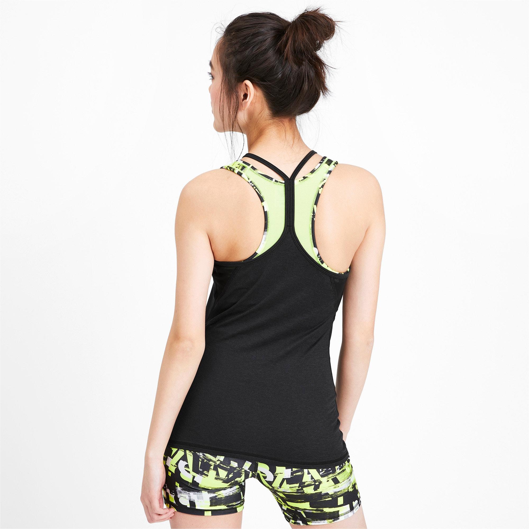 Miniatura 2 de Camiseta sin mangas Studio con espalda deportiva para mujer, Puma Black Heather, mediano