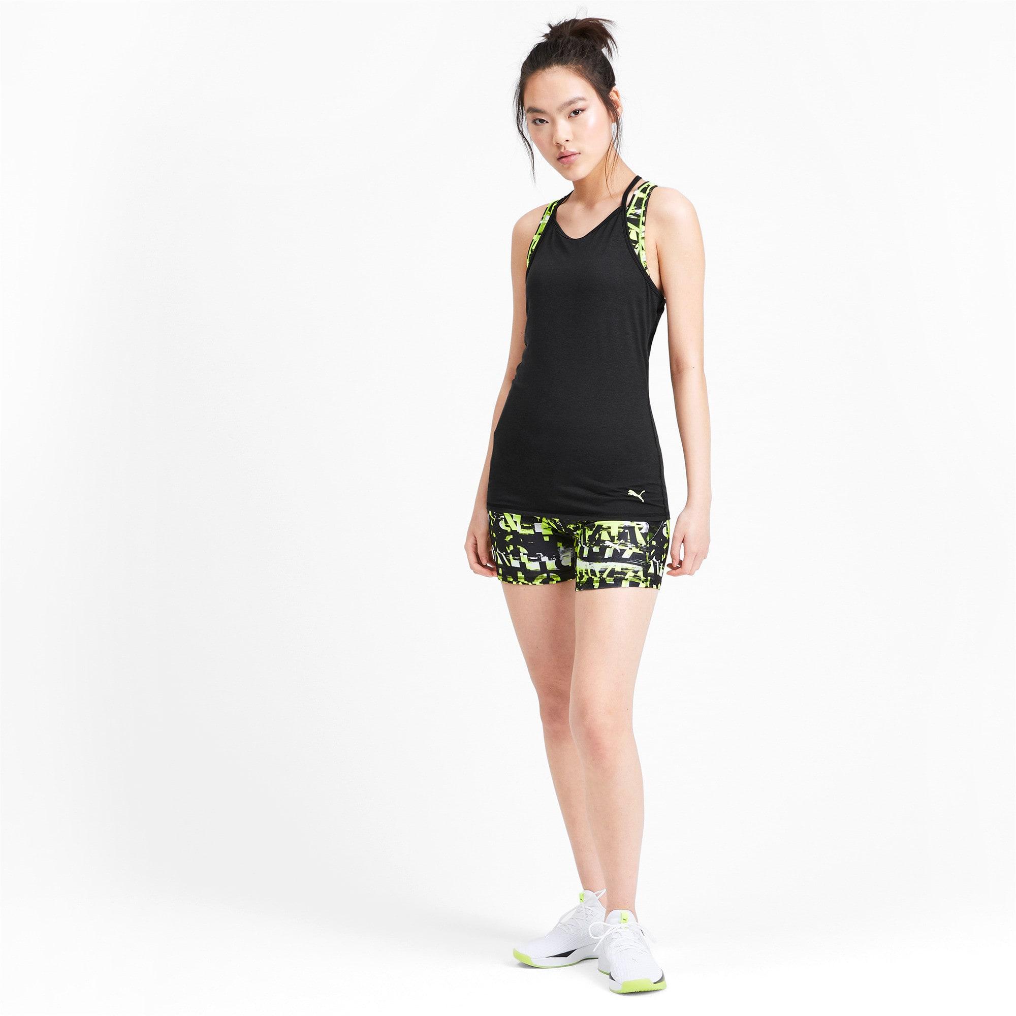 Miniatura 3 de Camiseta sin mangas Studio con espalda deportiva para mujer, Puma Black Heather, mediano
