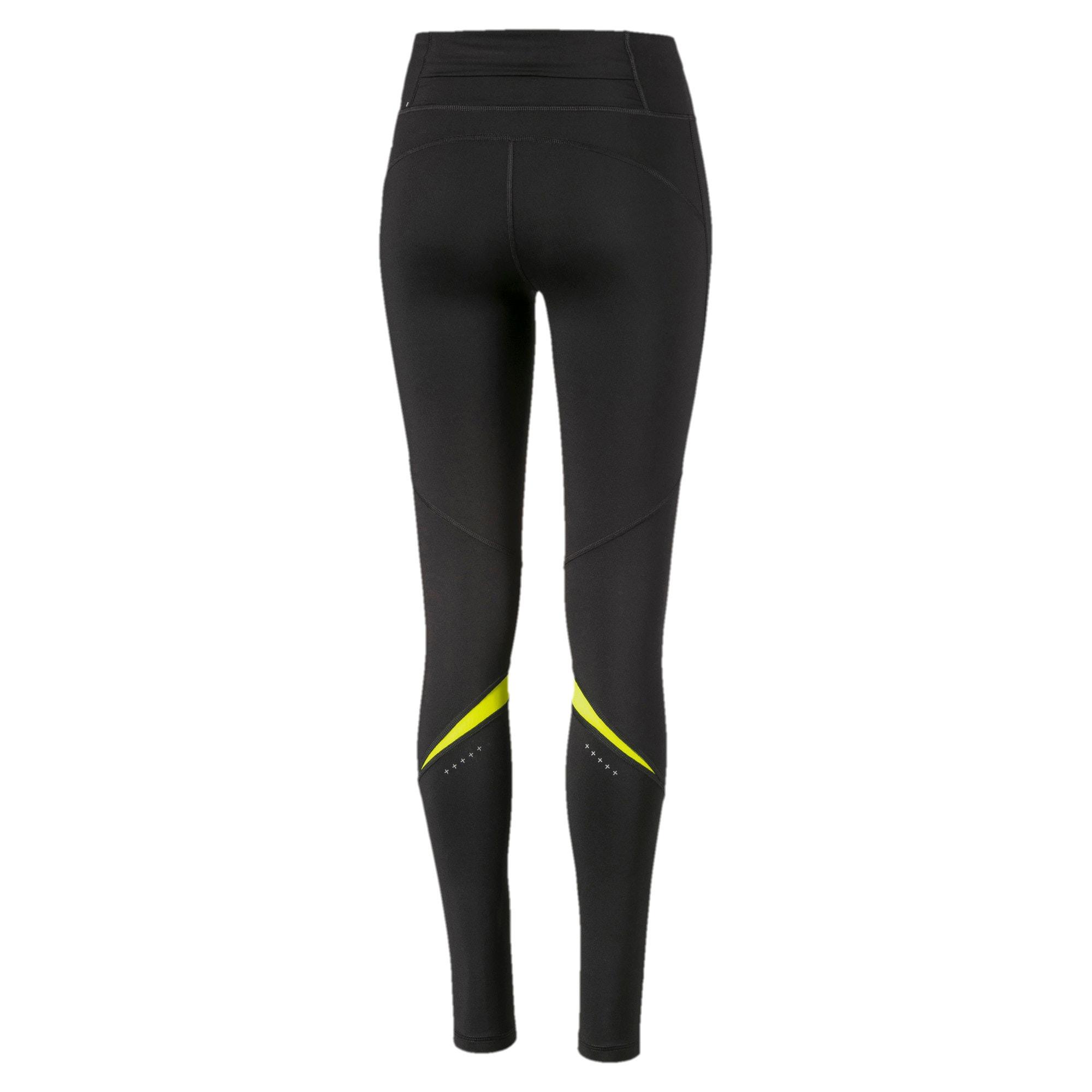 Miniatura 5 de Leggings largosIgnite para mujer, Puma Black-Yellow Alert, mediano