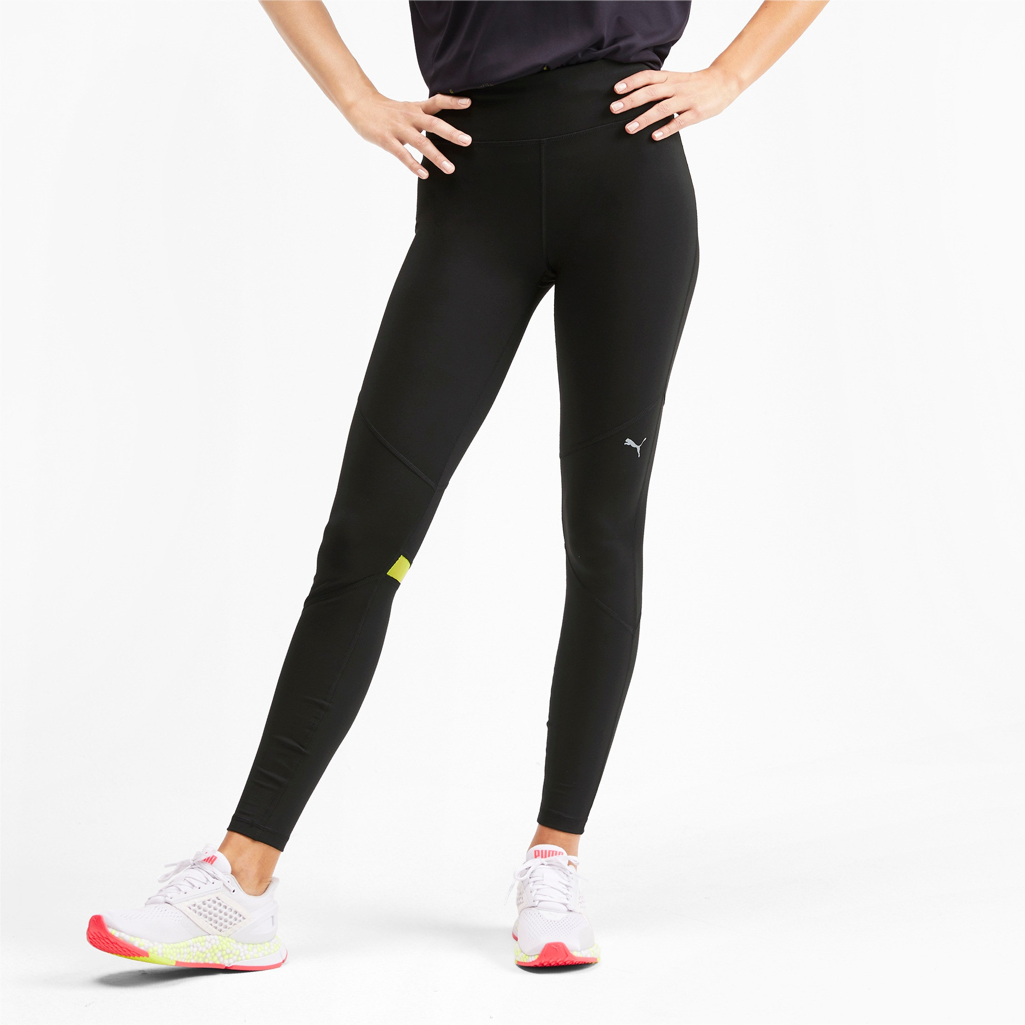 Miniatura 1 de Leggings largosIgnite para mujer, Puma Black-Yellow Alert, mediano