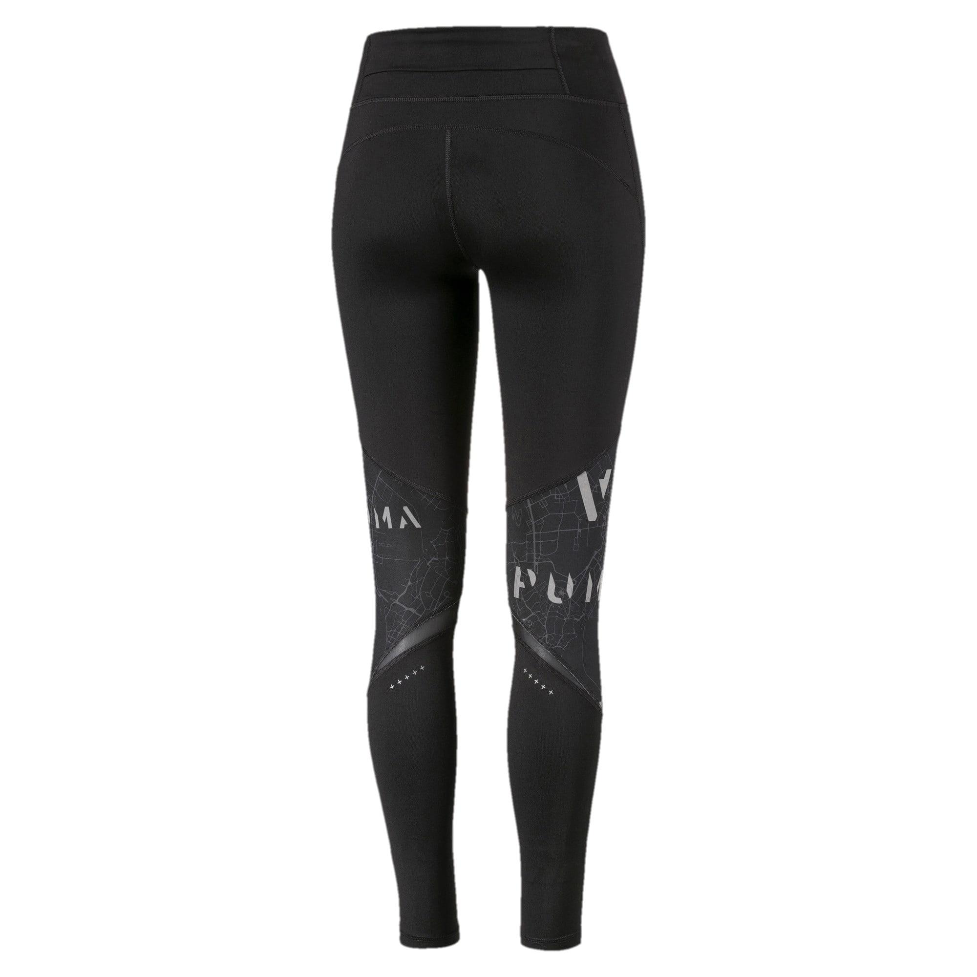 Miniatura 5 de Leggings estampados para mujer, Puma Black-Puma Black, mediano