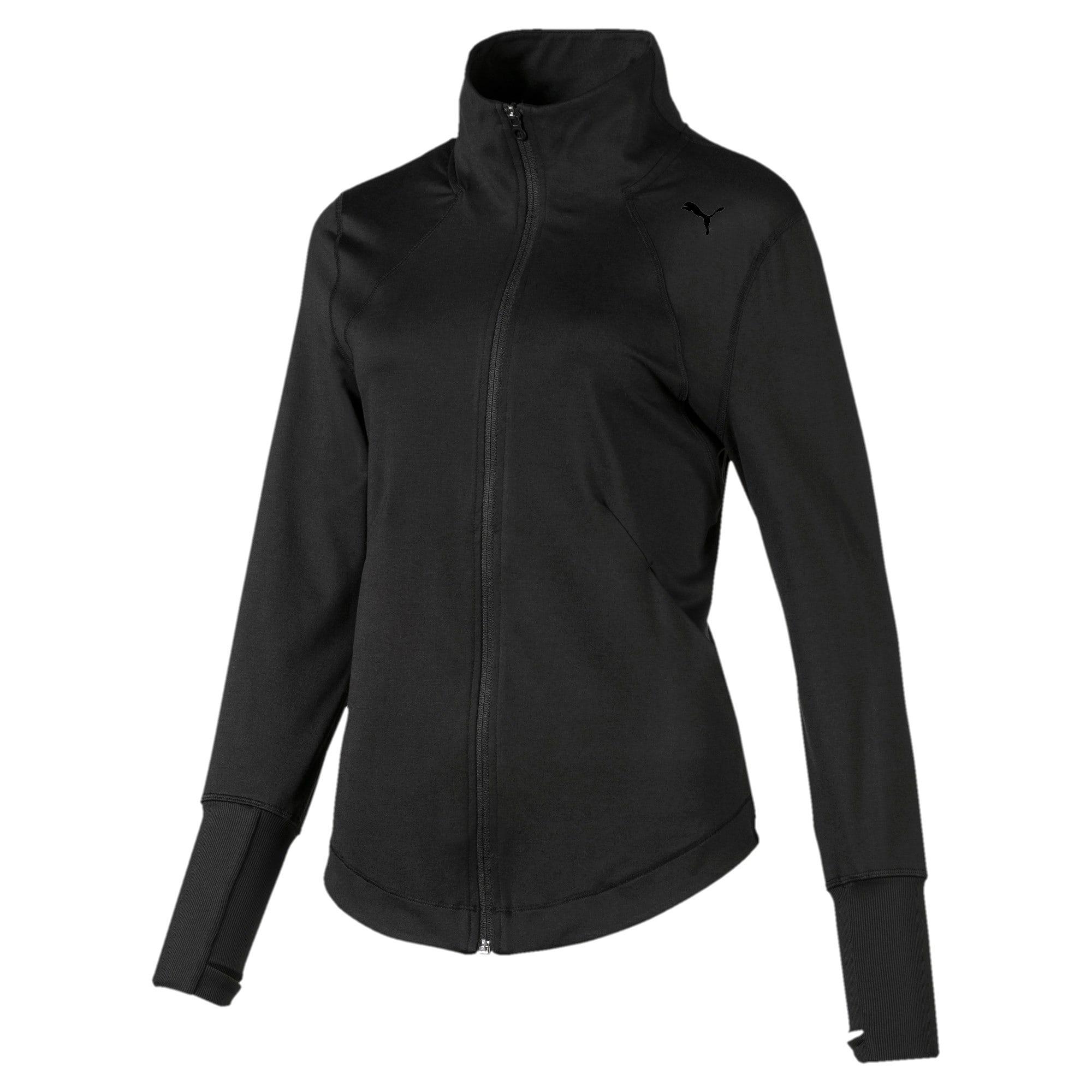 Thumbnail 3 of Studio Knit Women's Training Jacket, Puma Black, medium