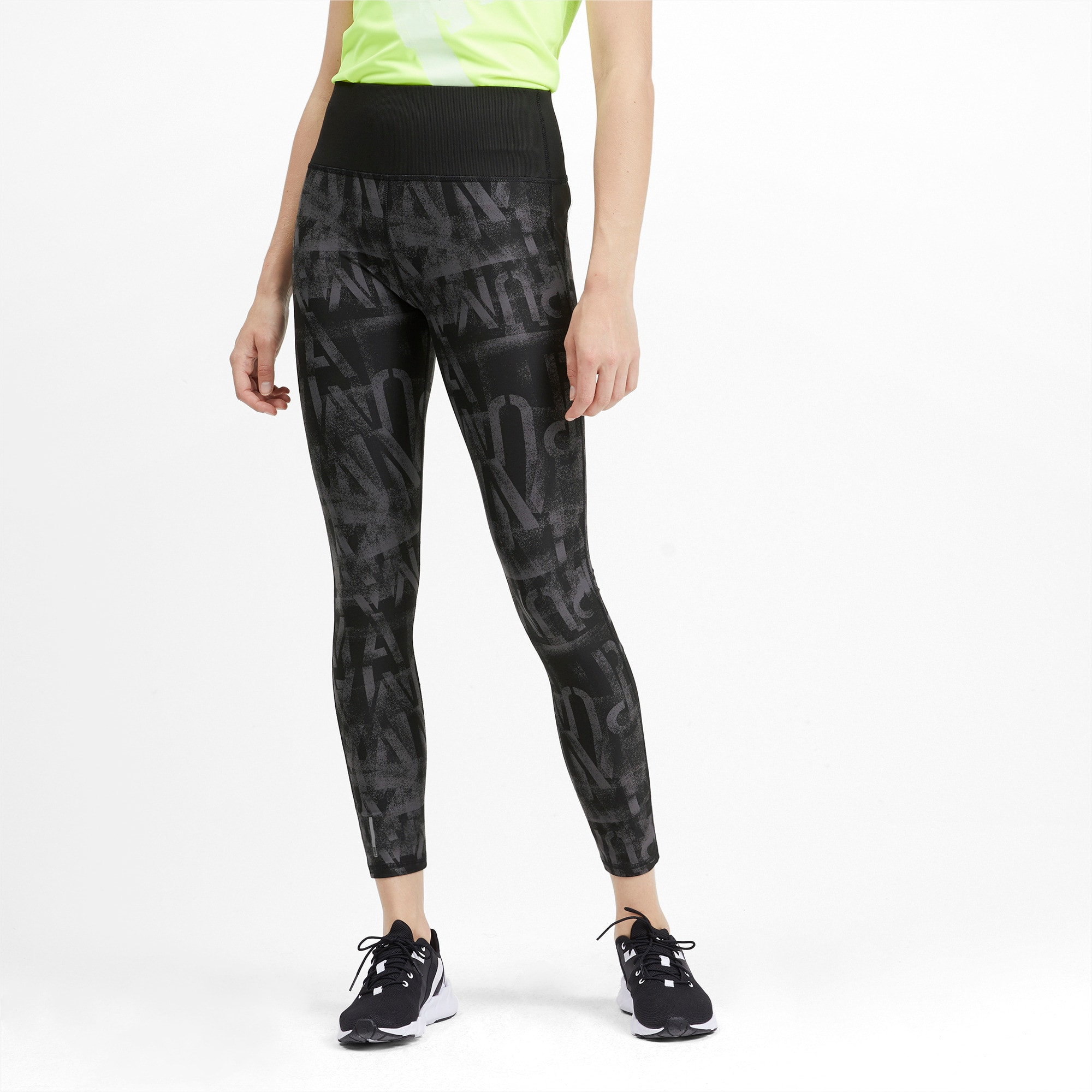 Thumbnail 1 of Studio Graphic Damen 7/8 Tight, Puma Black, medium