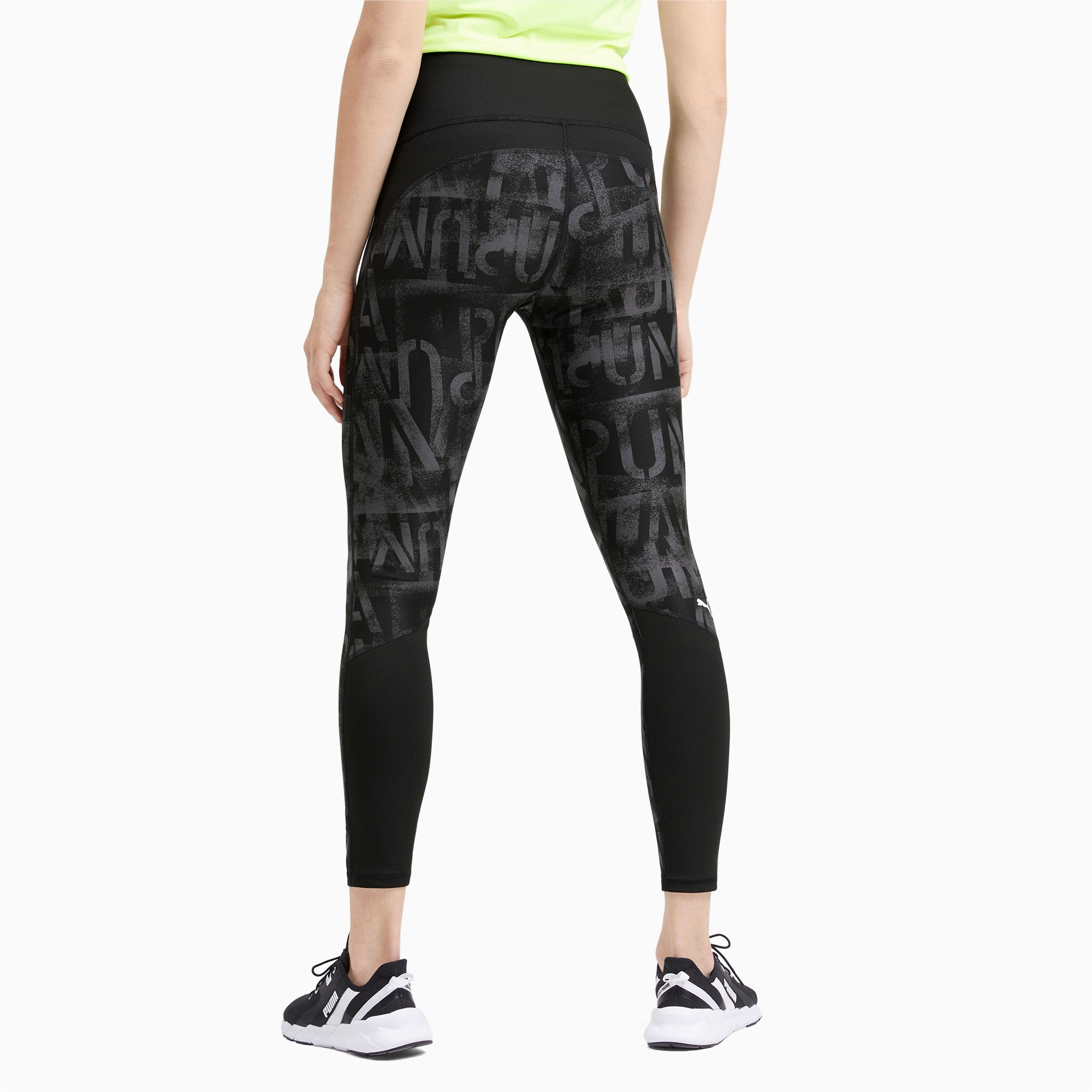 Thumbnail 2 of Studio 7/8 Graphic Women's Tights, Puma Black, medium