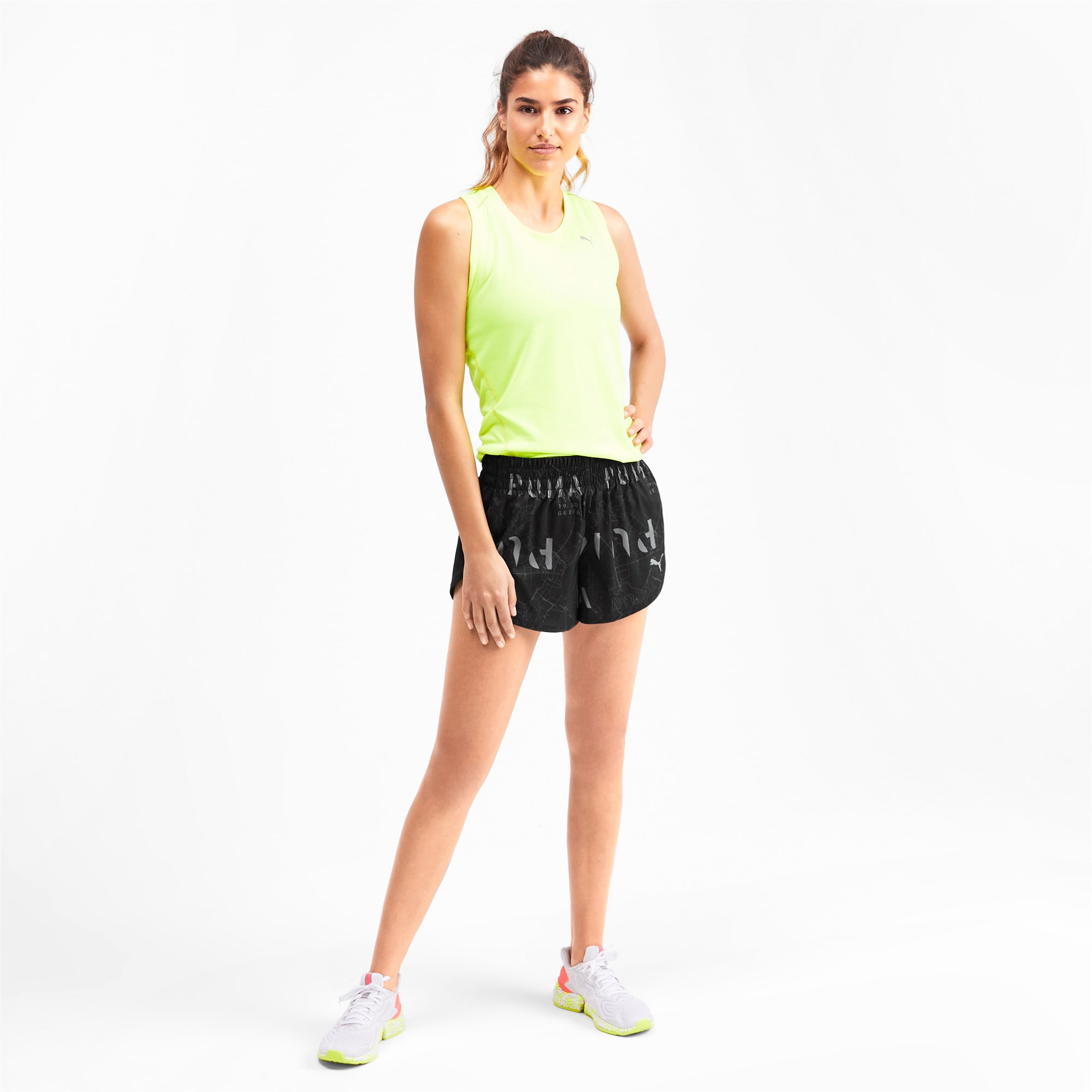 "Thumbnail 3 of 3"" Graphic Damen Shorts, Puma Black-Reflective Print, medium"