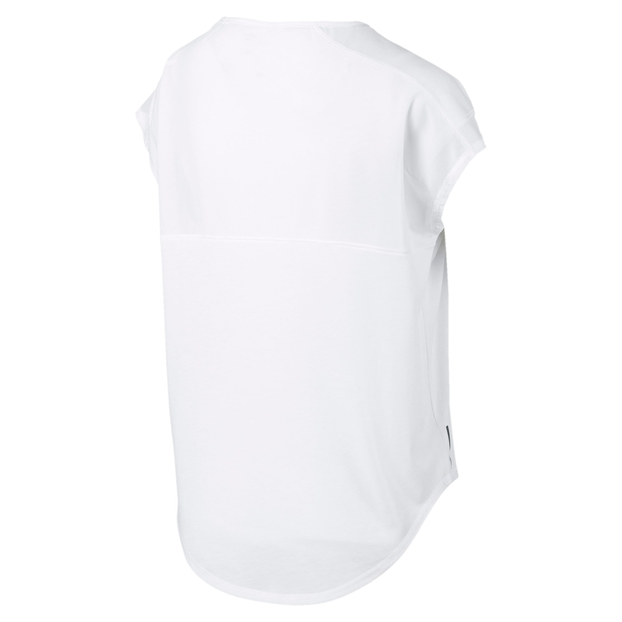 Thumbnail 5 of Studio Mesh Cat Damen Training T-Shirt, Puma White, medium