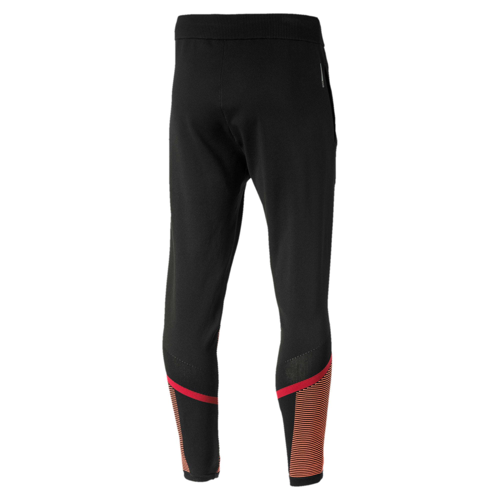 Miniatura 5 de Pantalones Reactive evoKNIT para hombre, Puma Black-Rhubarb, mediano