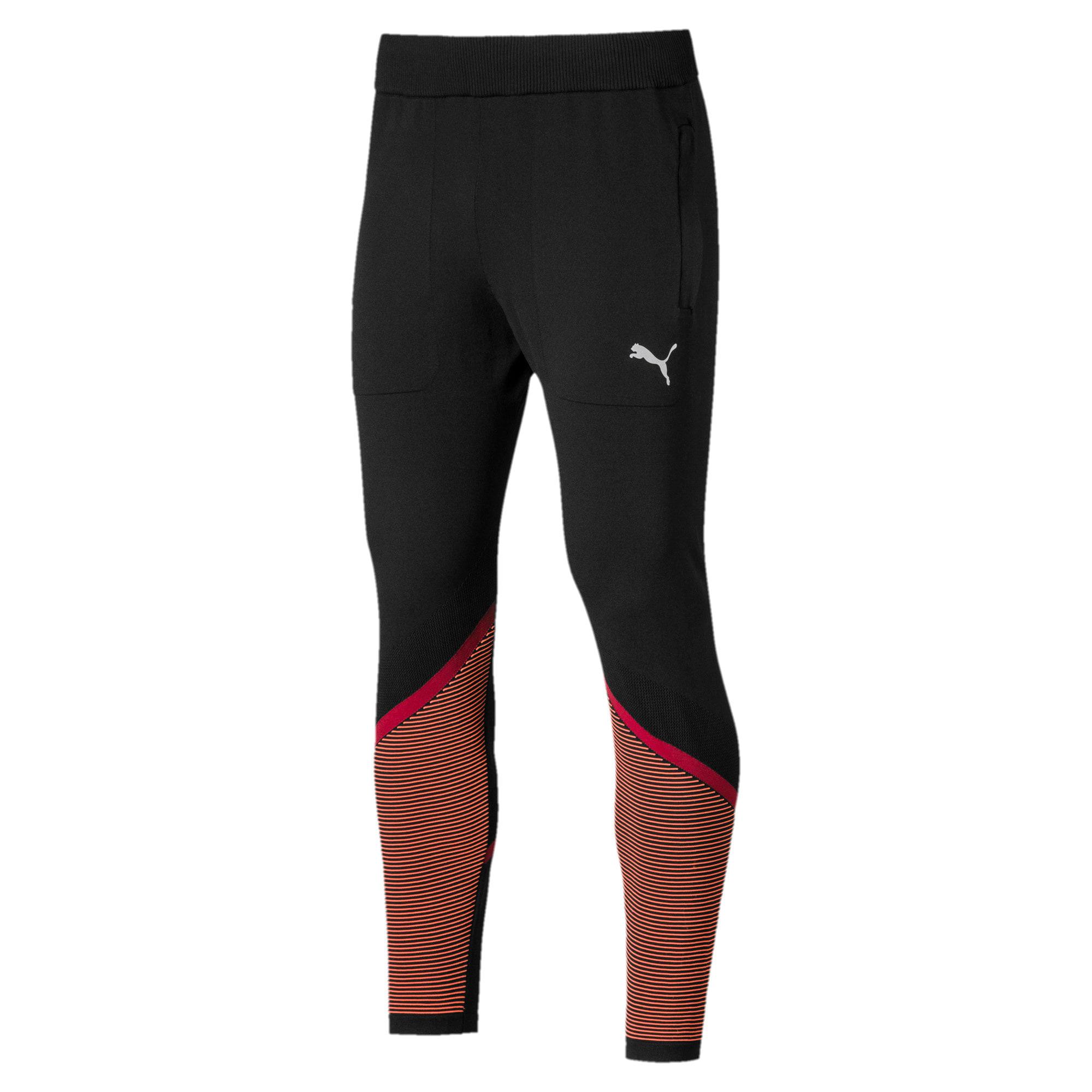 Miniatura 4 de Pantalones Reactive evoKNIT para hombre, Puma Black-Rhubarb, mediano