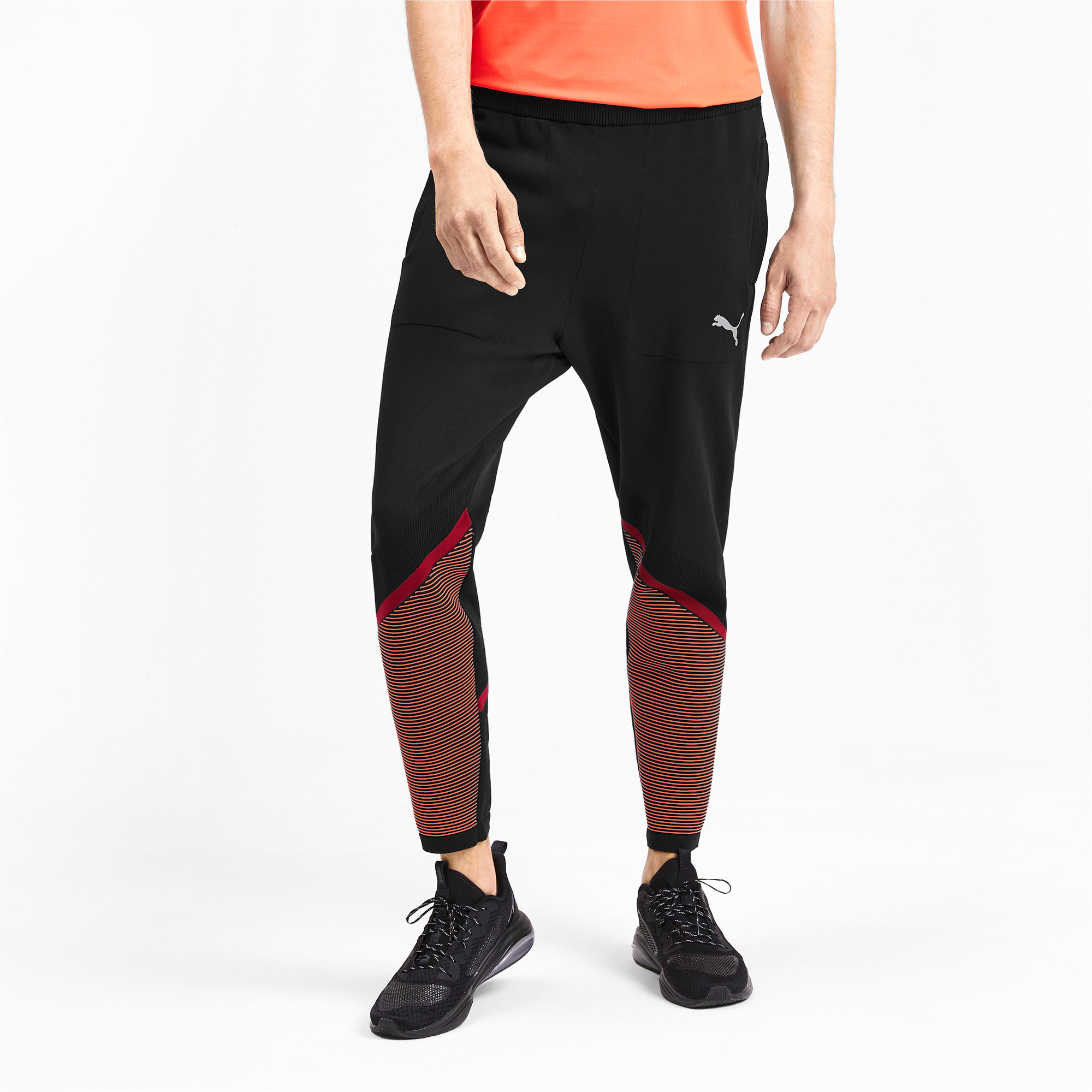 Miniatura 1 de Pantalones Reactive evoKNIT para hombre, Puma Black-Rhubarb, mediano