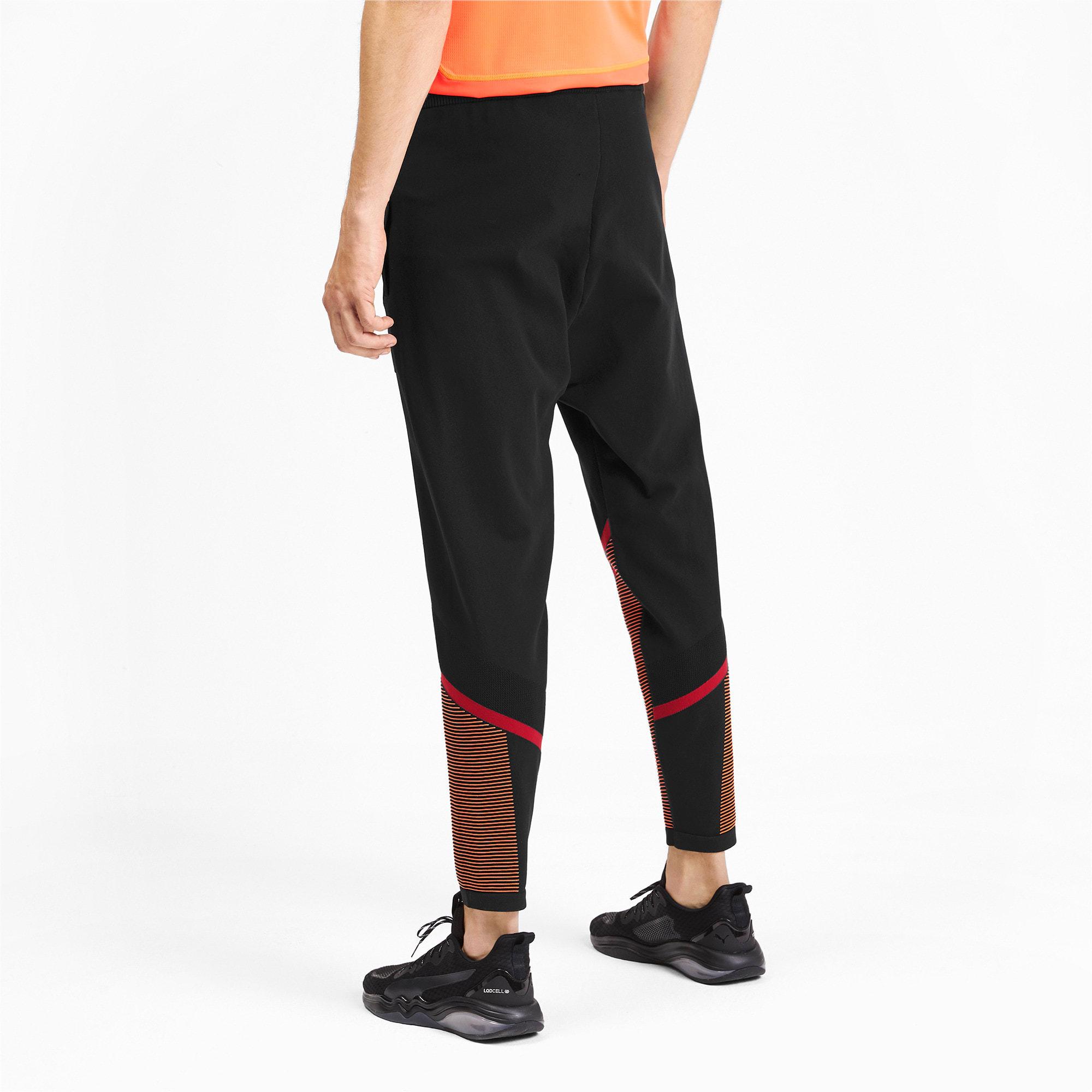 Miniatura 2 de Pantalones Reactive evoKNIT para hombre, Puma Black-Rhubarb, mediano