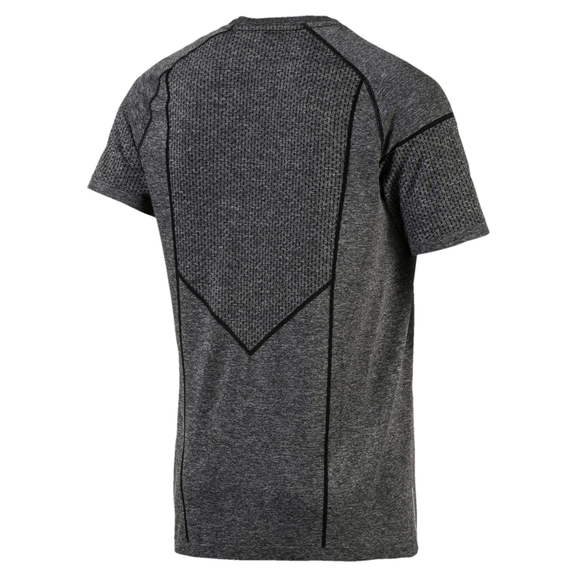 Miniatura 5 de Camiseta Reactive evoKNIT para hombre, Puma Black Heather, mediano