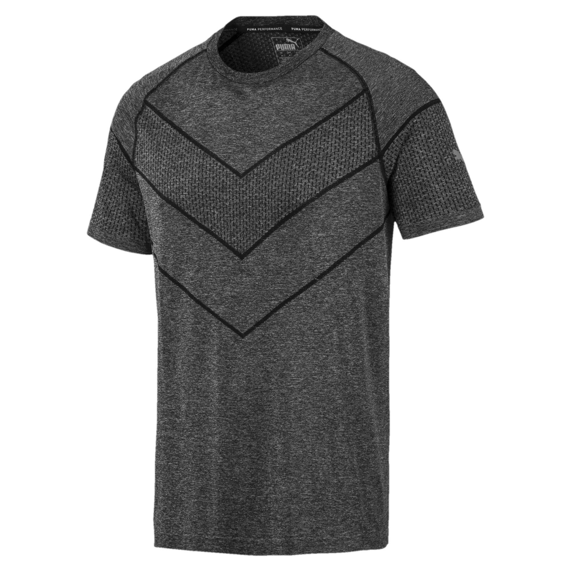 Miniatura 4 de Camiseta Reactive evoKNIT para hombre, Puma Black Heather, mediano
