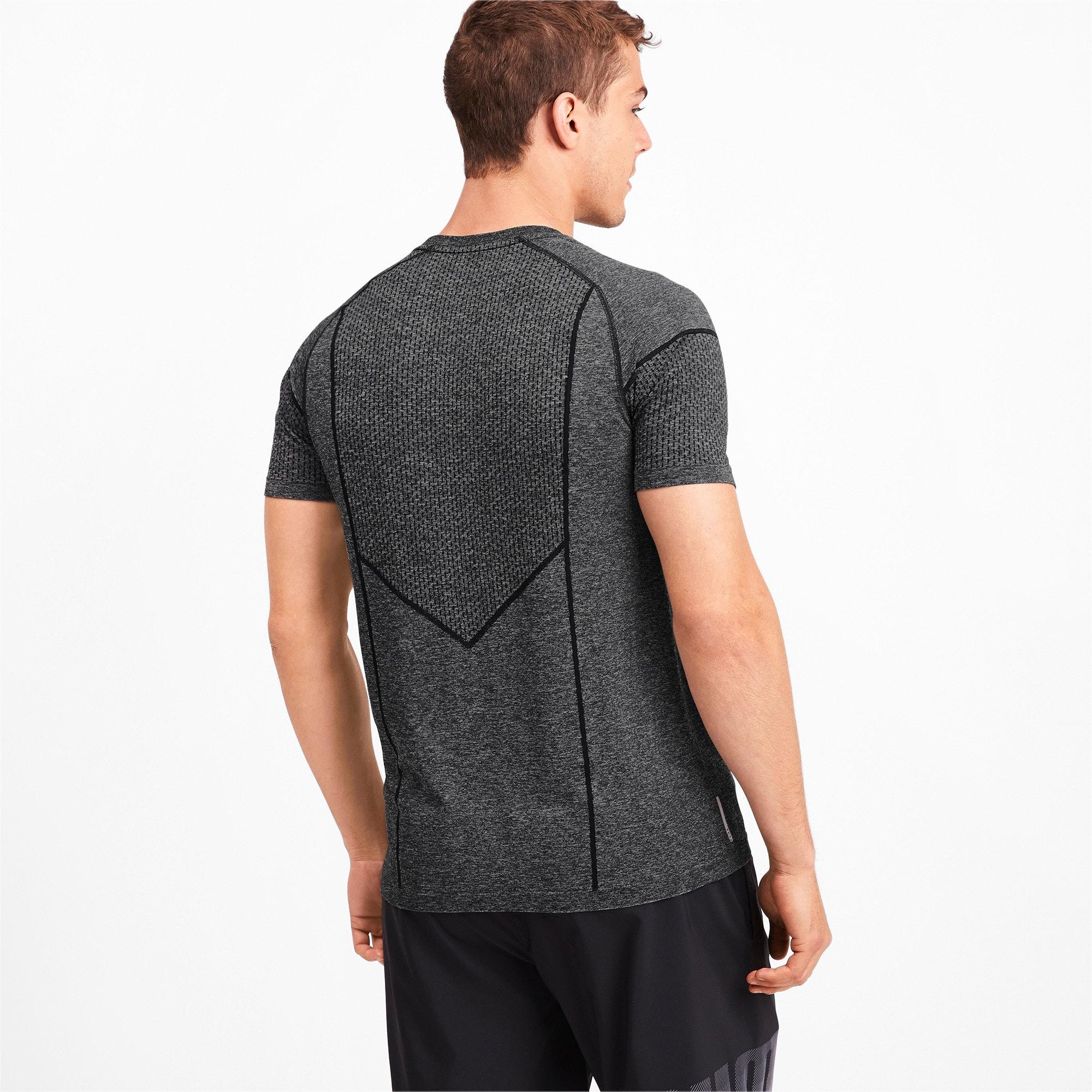 Miniatura 2 de Camiseta Reactive evoKNIT para hombre, Puma Black Heather, mediano