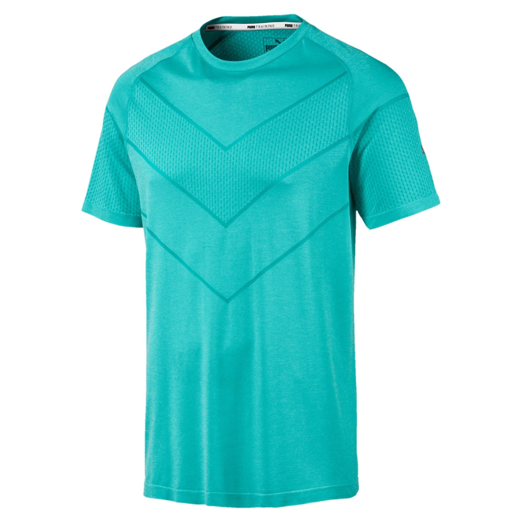 Thumbnail 4 of Reactive evoKNIT Herren T-Shirt, Blue Turquoise Heather, medium