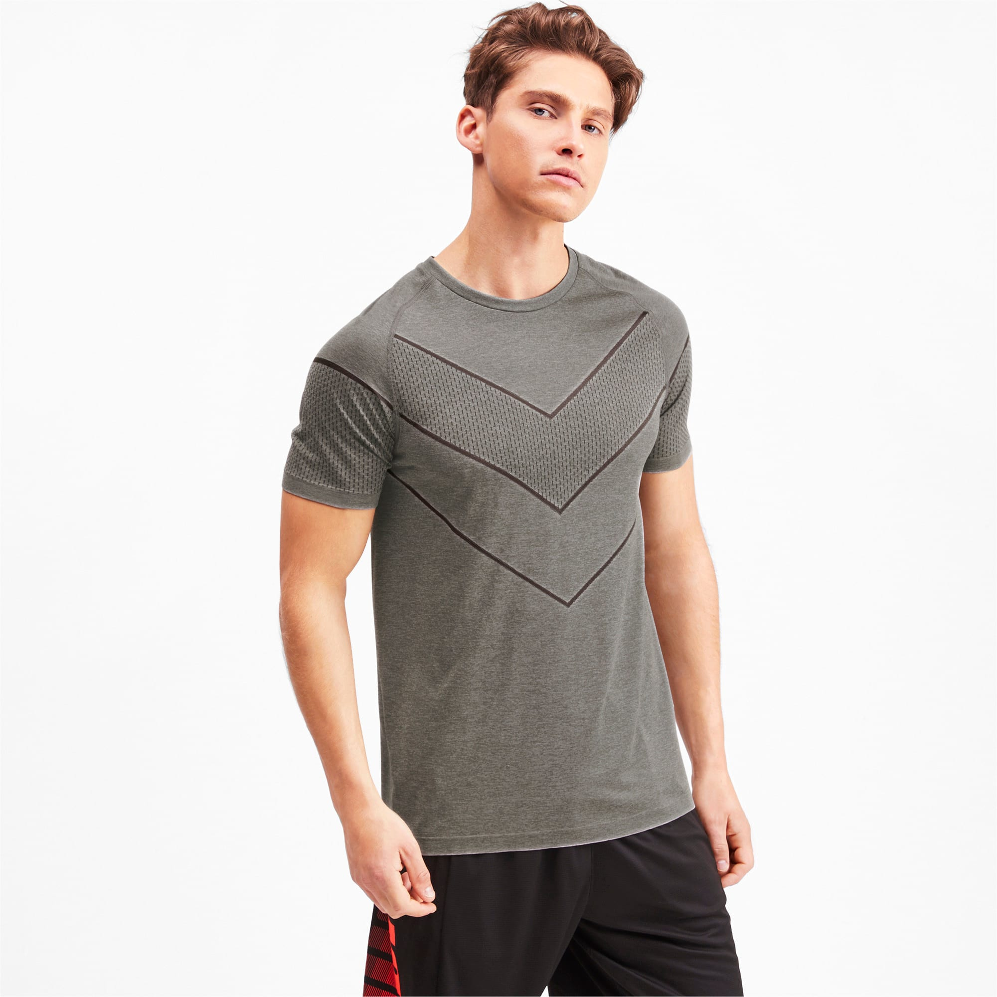 Thumbnail 1 of T-Shirt Reactive evoKNIT pour homme, Medium Gray Heather, medium