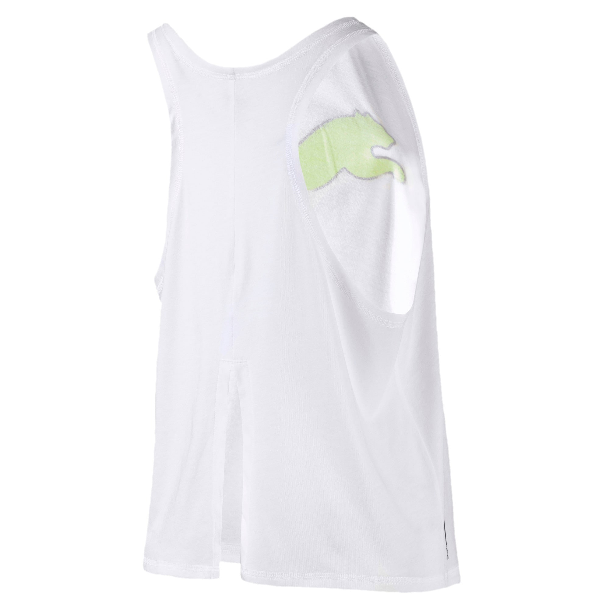 Miniatura 5 de Camiseta sin mangas HIT Feel It para mujer, Puma White, mediano