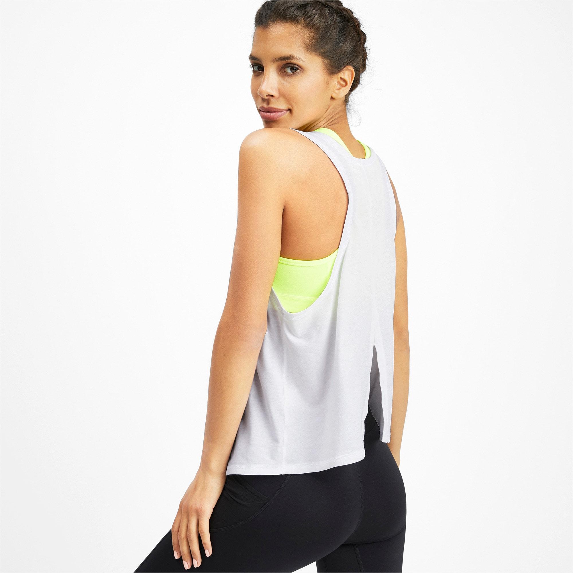 Miniatura 2 de Camiseta sin mangas HIT Feel It para mujer, Puma White, mediano