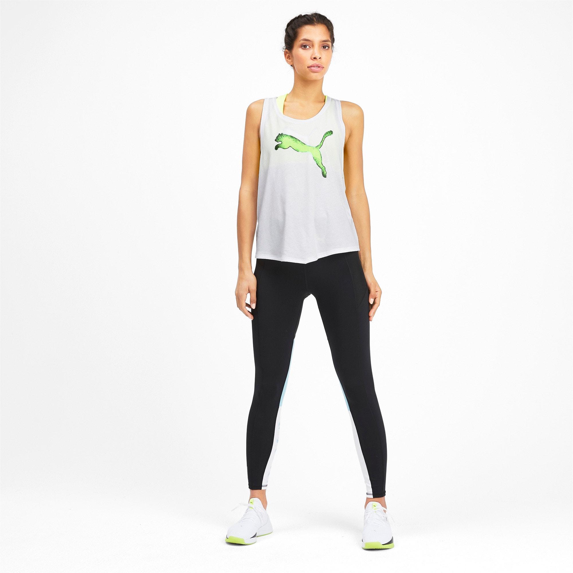 Miniatura 3 de Camiseta sin mangas HIT Feel It para mujer, Puma White, mediano