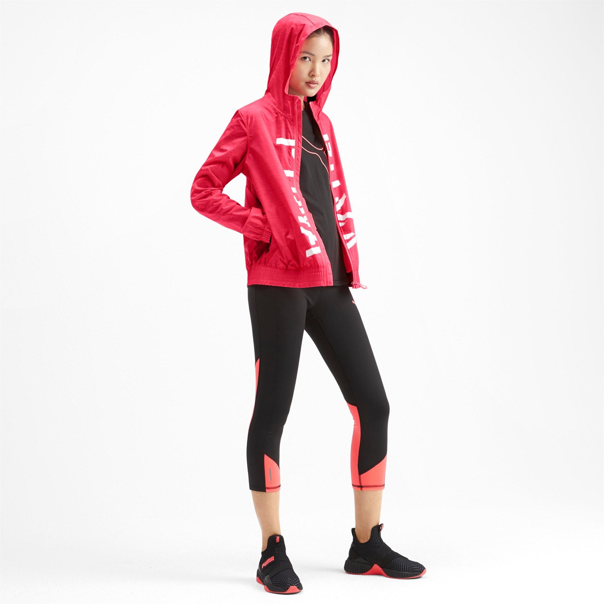 Miniatura 3 de Chaqueta tejida con estampa Be Bold para mujer, Pink Alert, mediano