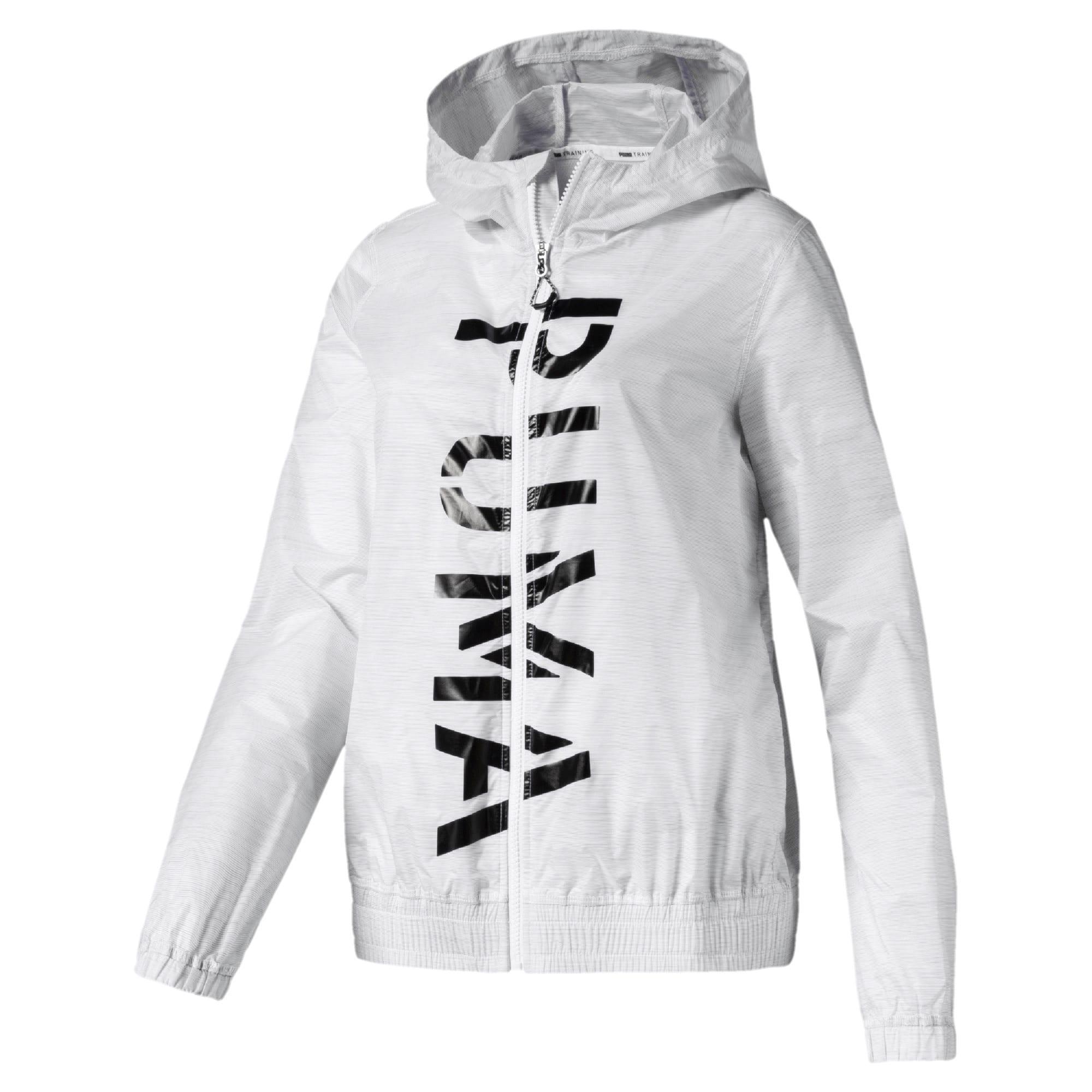 Miniatura 1 de Chaqueta tejida con estampa Be Bold para mujer, Puma White, mediano