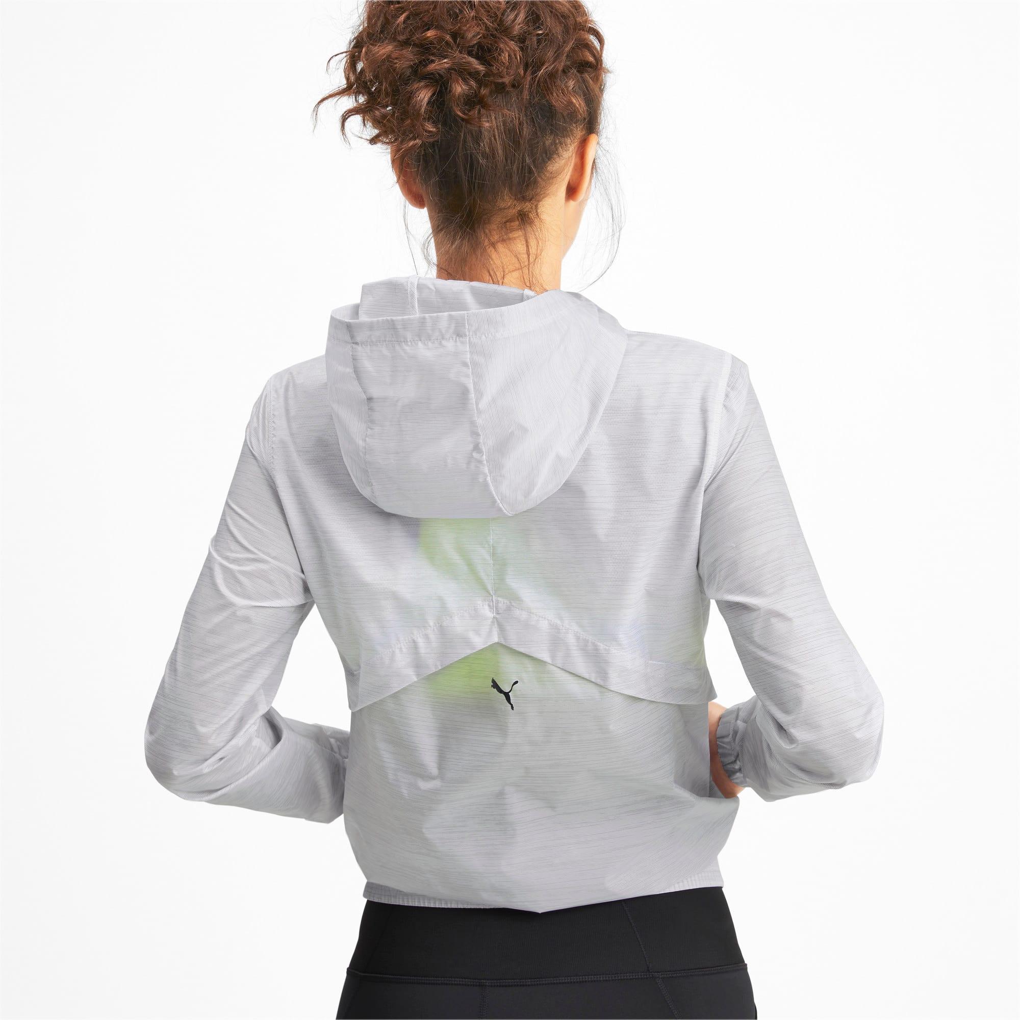Miniatura 3 de Chaqueta tejida con estampa Be Bold para mujer, Puma White, mediano