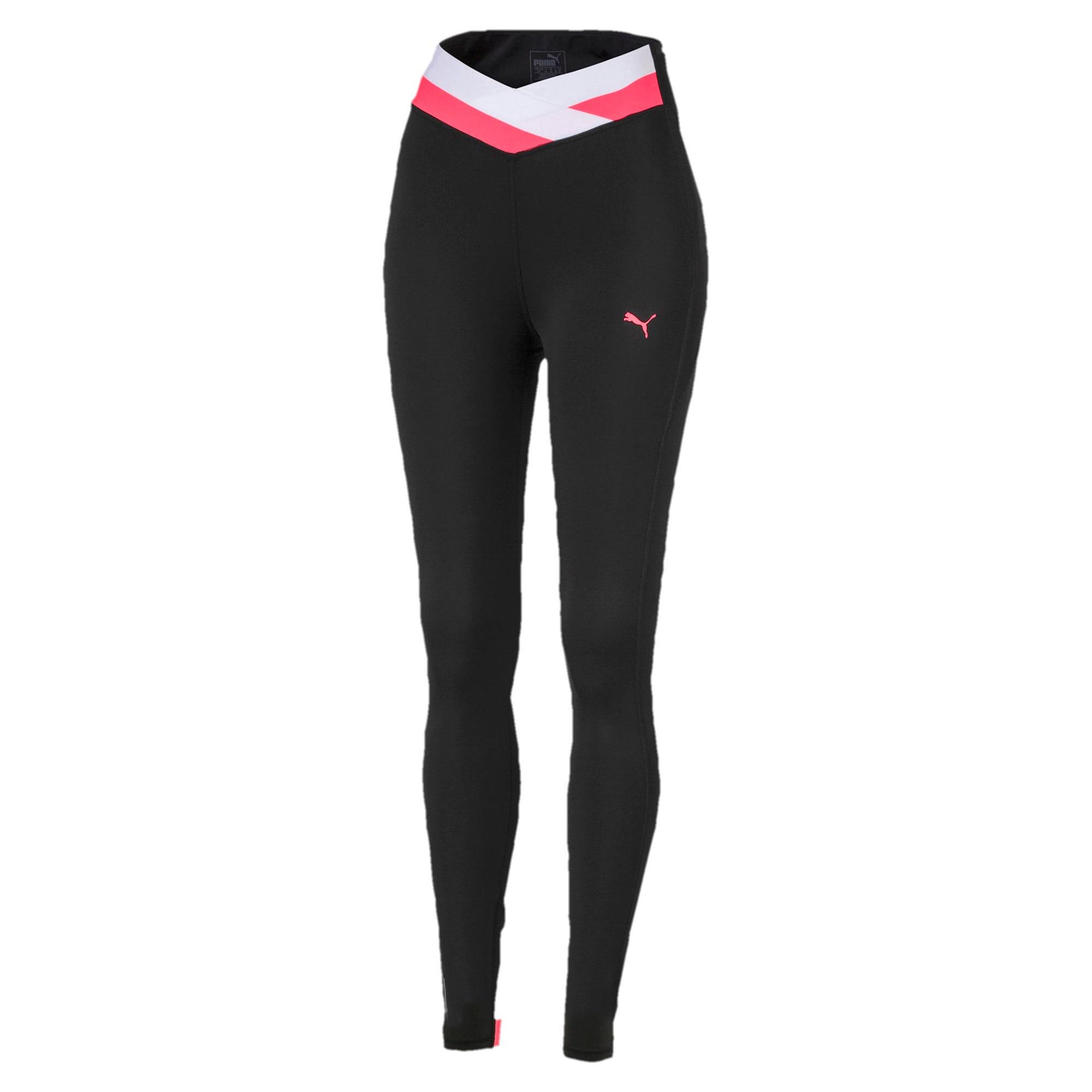 Thumbnail 4 of HIT Feel It 7/8 Women's Training Leggings, Puma Black-Pink Alert, medium