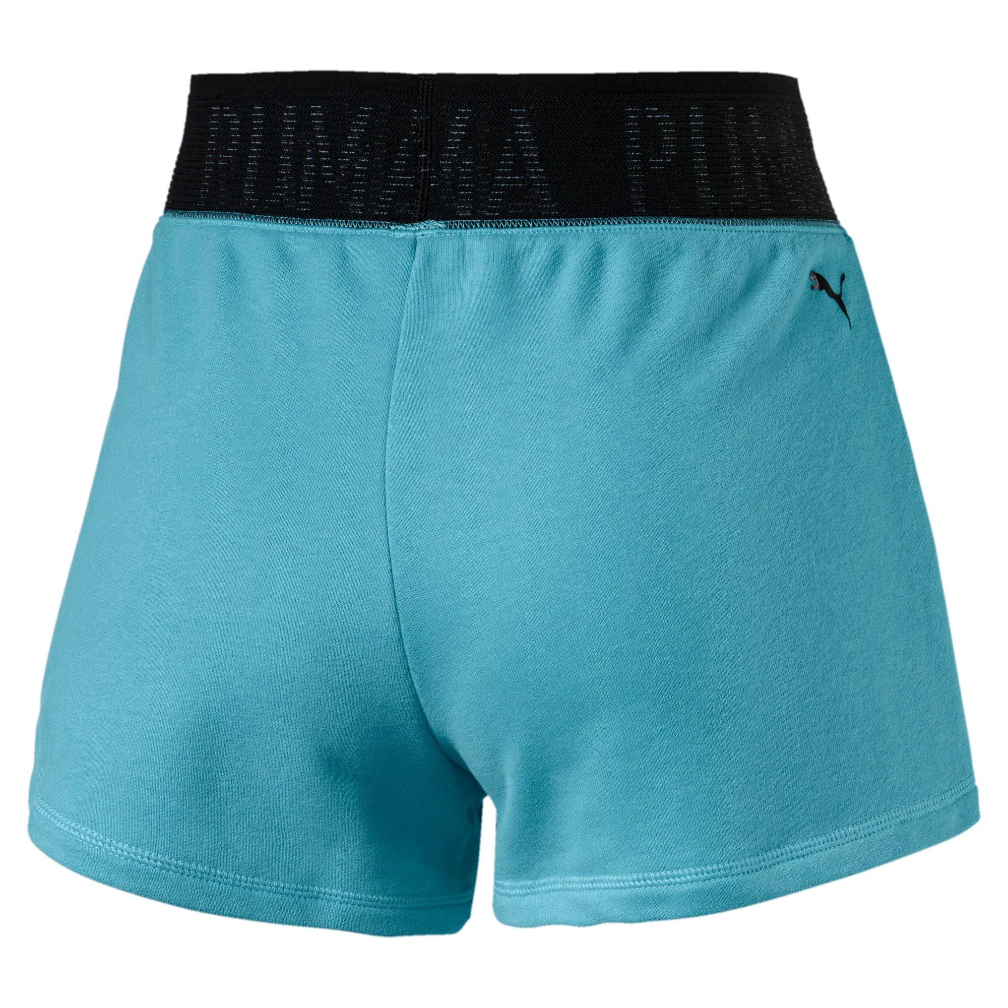 Miniatura 5 de Shorts con logo para mujer, Milky Blue Heather, mediano
