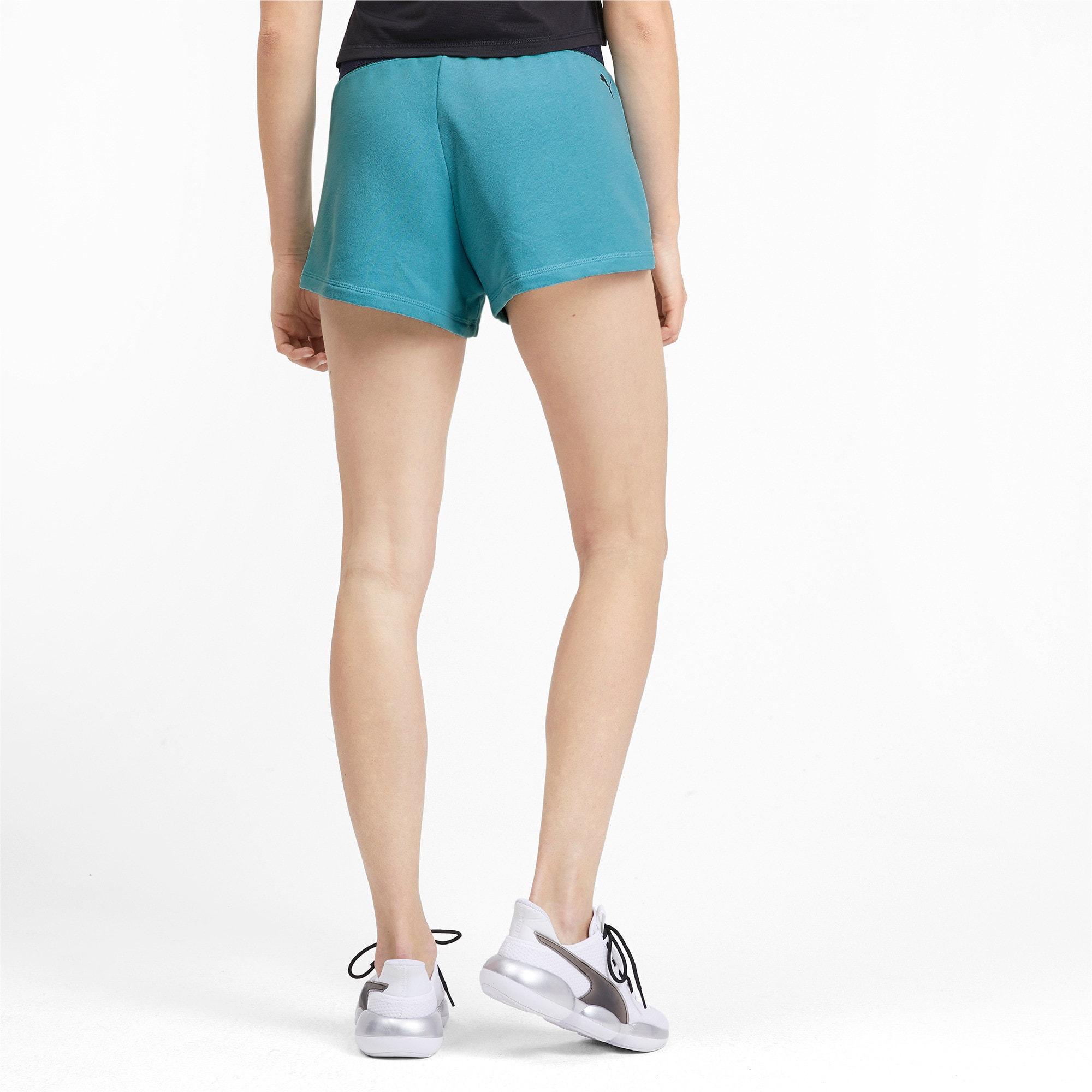 Miniatura 3 de Shorts con logo para mujer, Milky Blue Heather, mediano