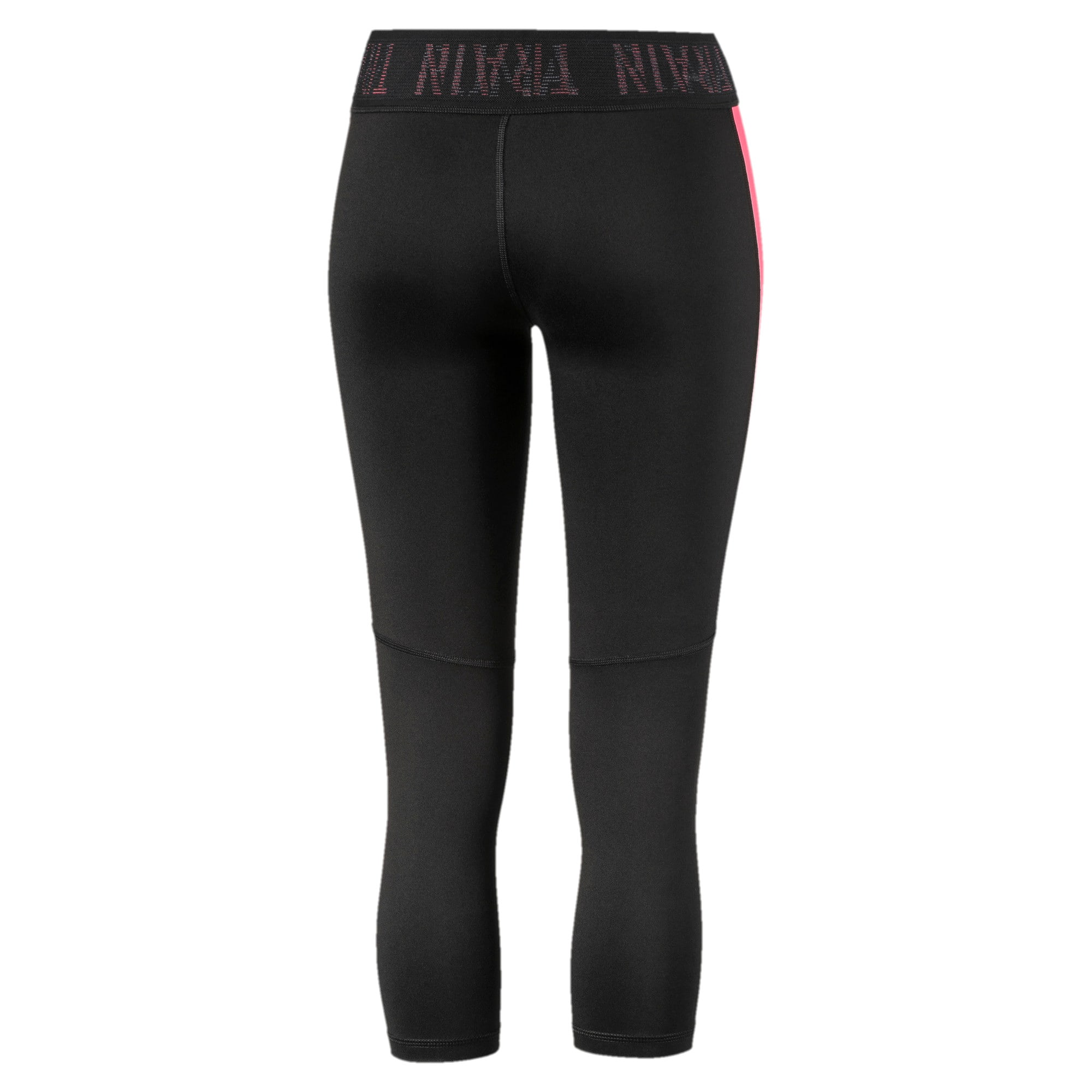 Thumbnail 5 of Logo Women's 3/4 Leggings, Puma Black-Pink Alert, medium