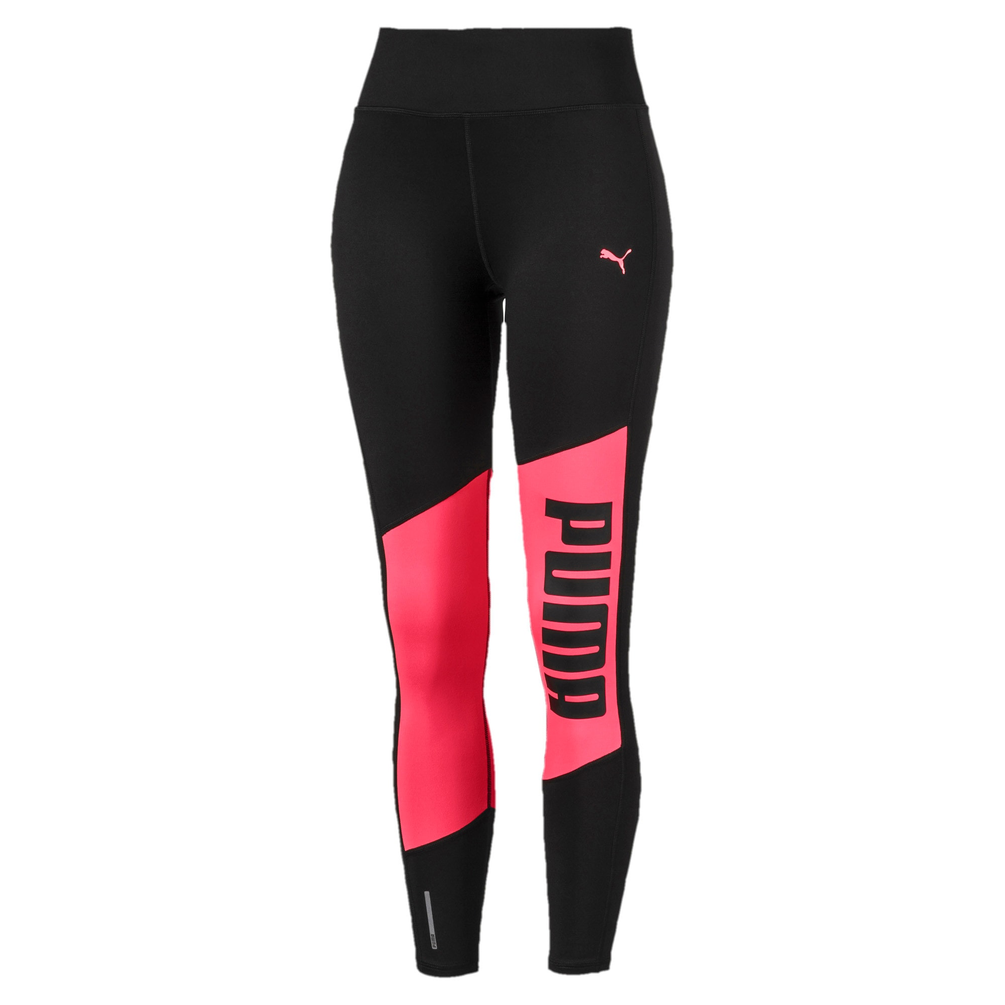 Thumbnail 4 of Logo 7/8 Graphic Women's Training Leggings, Puma Black-Pink Alert, medium