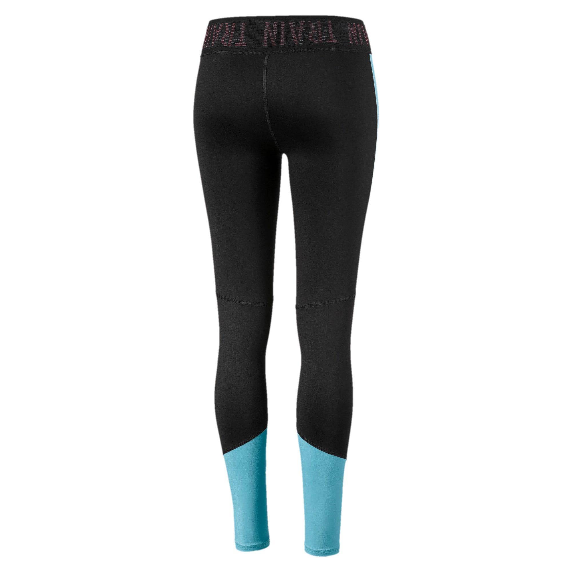Thumbnail 5 of Logo Women's 7/8 Leggings, Puma Black-Milky Blue, medium