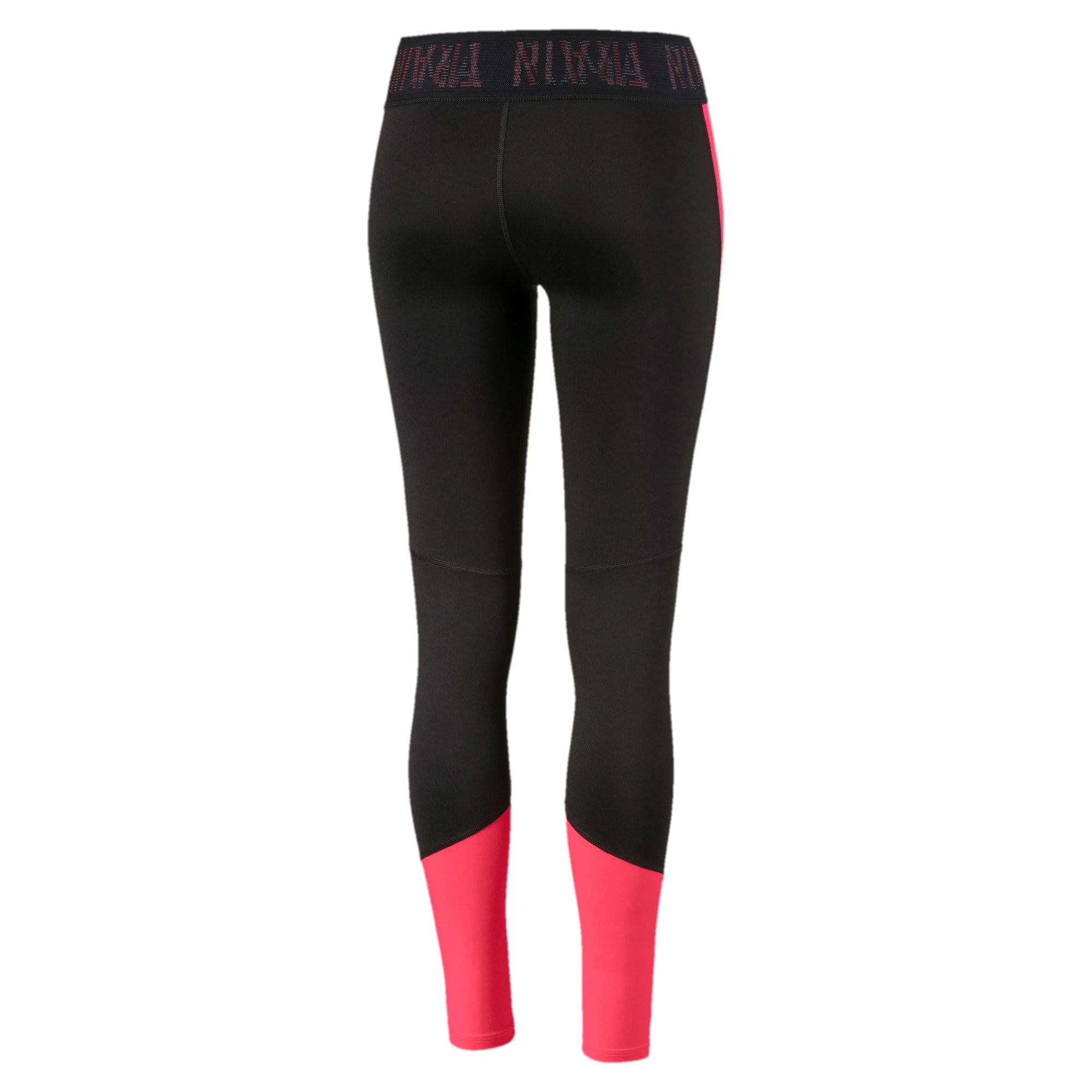 Thumbnail 5 of Logo Women's 7/8 Leggings, Puma Black-Pink Alert, medium