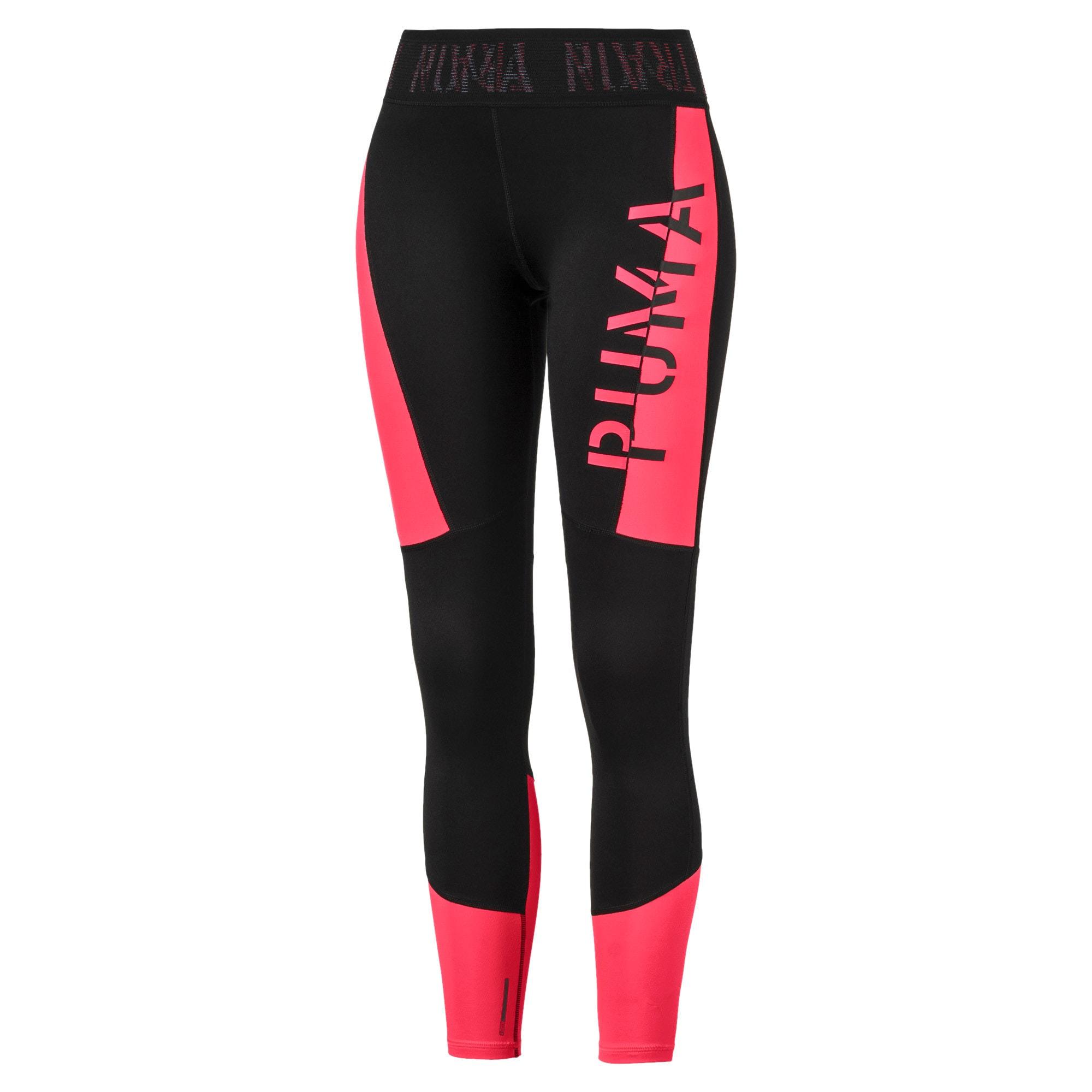 Thumbnail 4 of ADHM 2019 Logo 7/8 Women's Training Leggings, Puma Black-Pink Alert, medium-IND