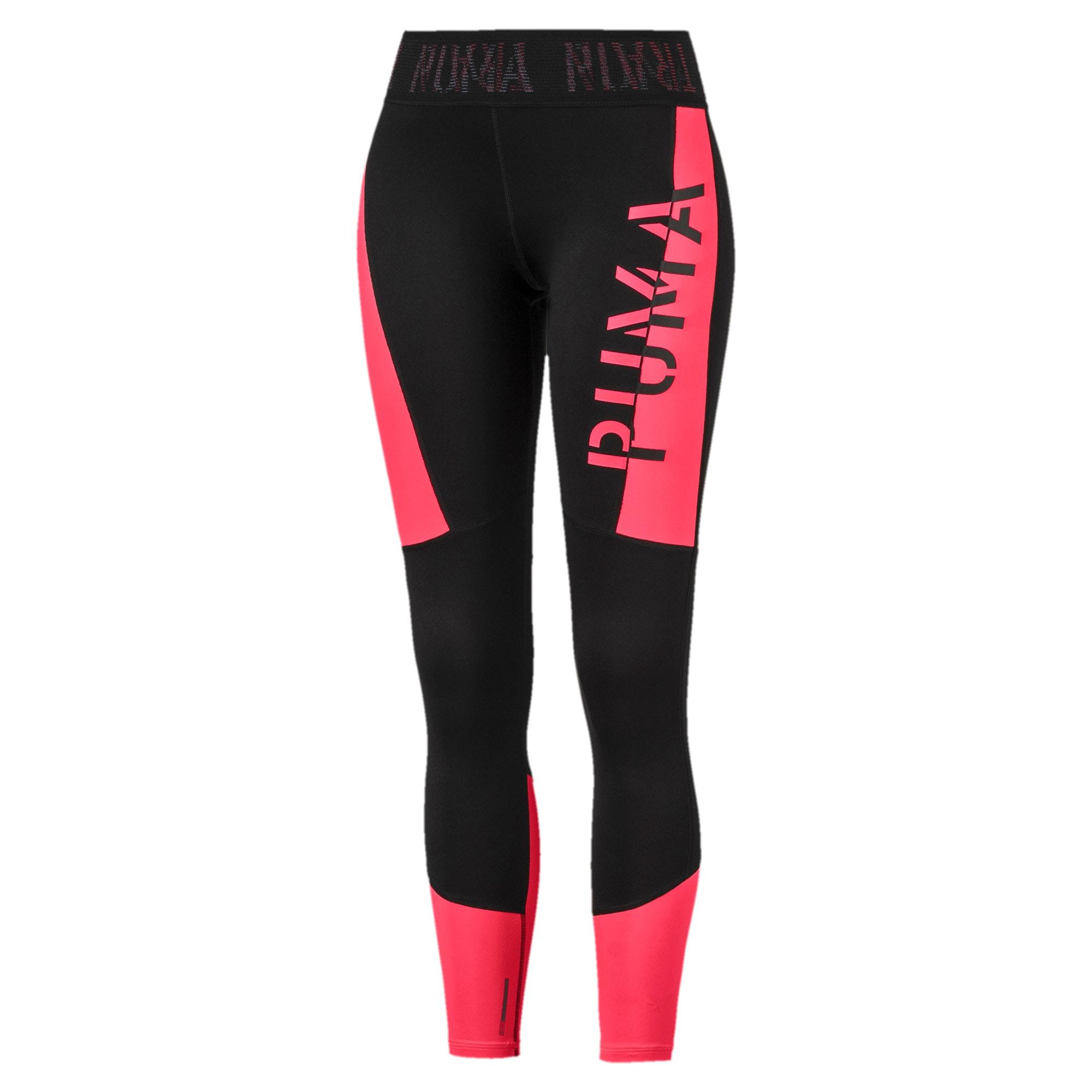 Thumbnail 4 of Logo Women's 7/8 Leggings, Puma Black-Pink Alert, medium