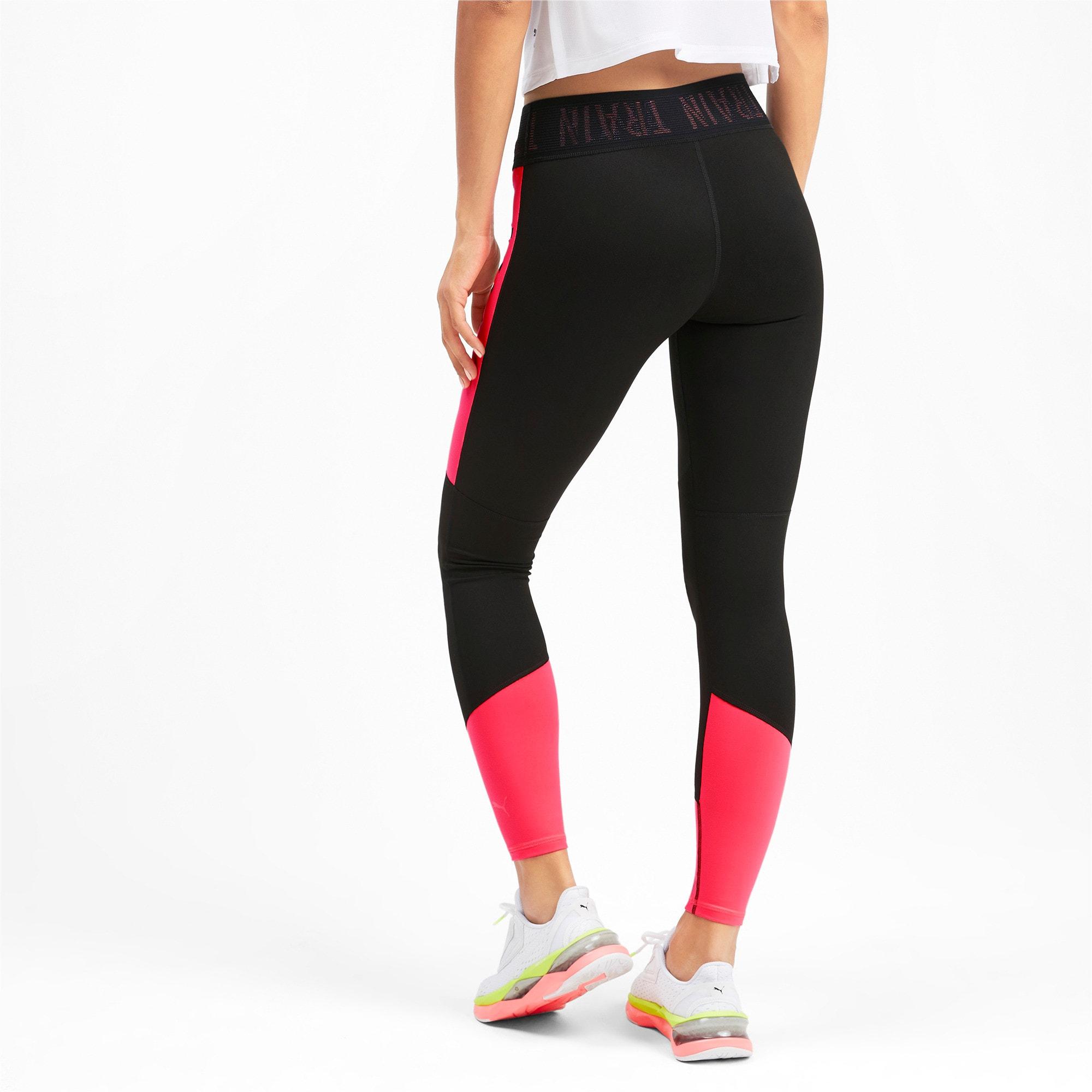 Thumbnail 2 of ADHM 2019 Logo 7/8 Women's Training Leggings, Puma Black-Pink Alert, medium-IND