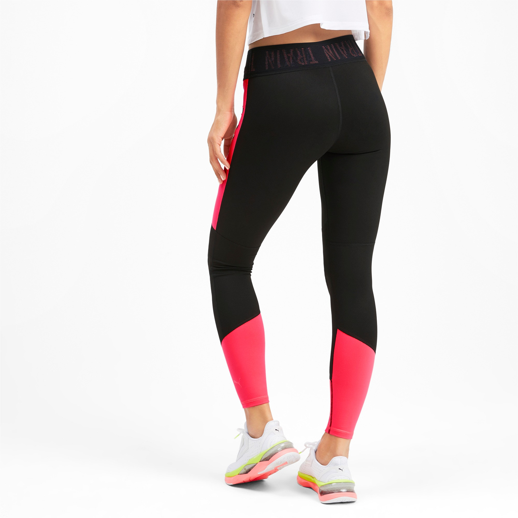 Thumbnail 2 of Logo Women's 7/8 Leggings, Puma Black-Pink Alert, medium