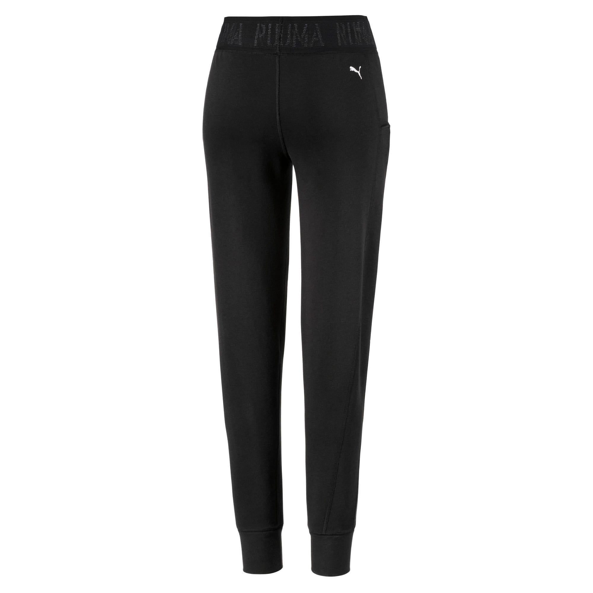 Thumbnail 5 of Logo Women's Sweatpants, Puma Black-Q3, medium