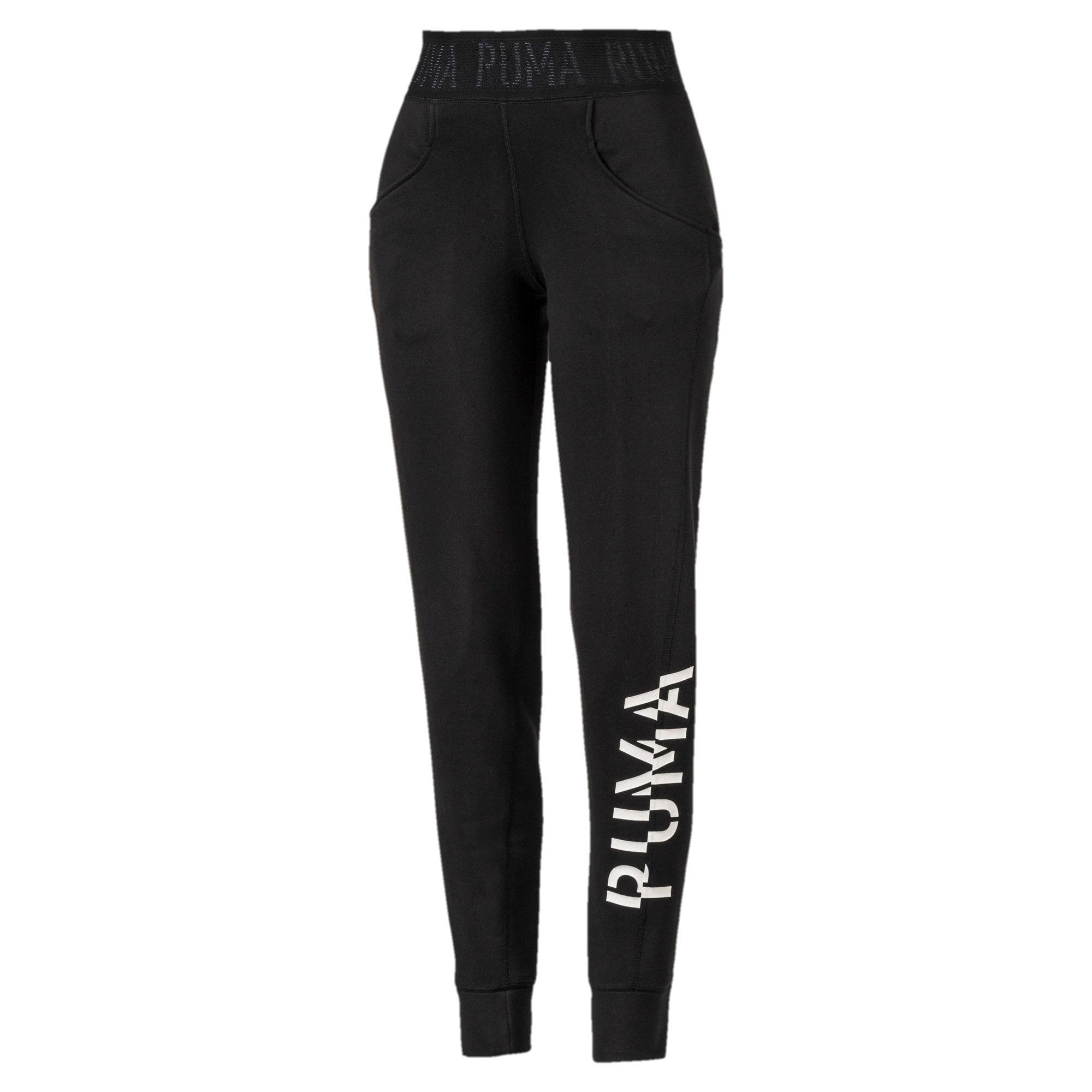 Thumbnail 4 of Logo Women's Sweatpants, Puma Black-Q3, medium