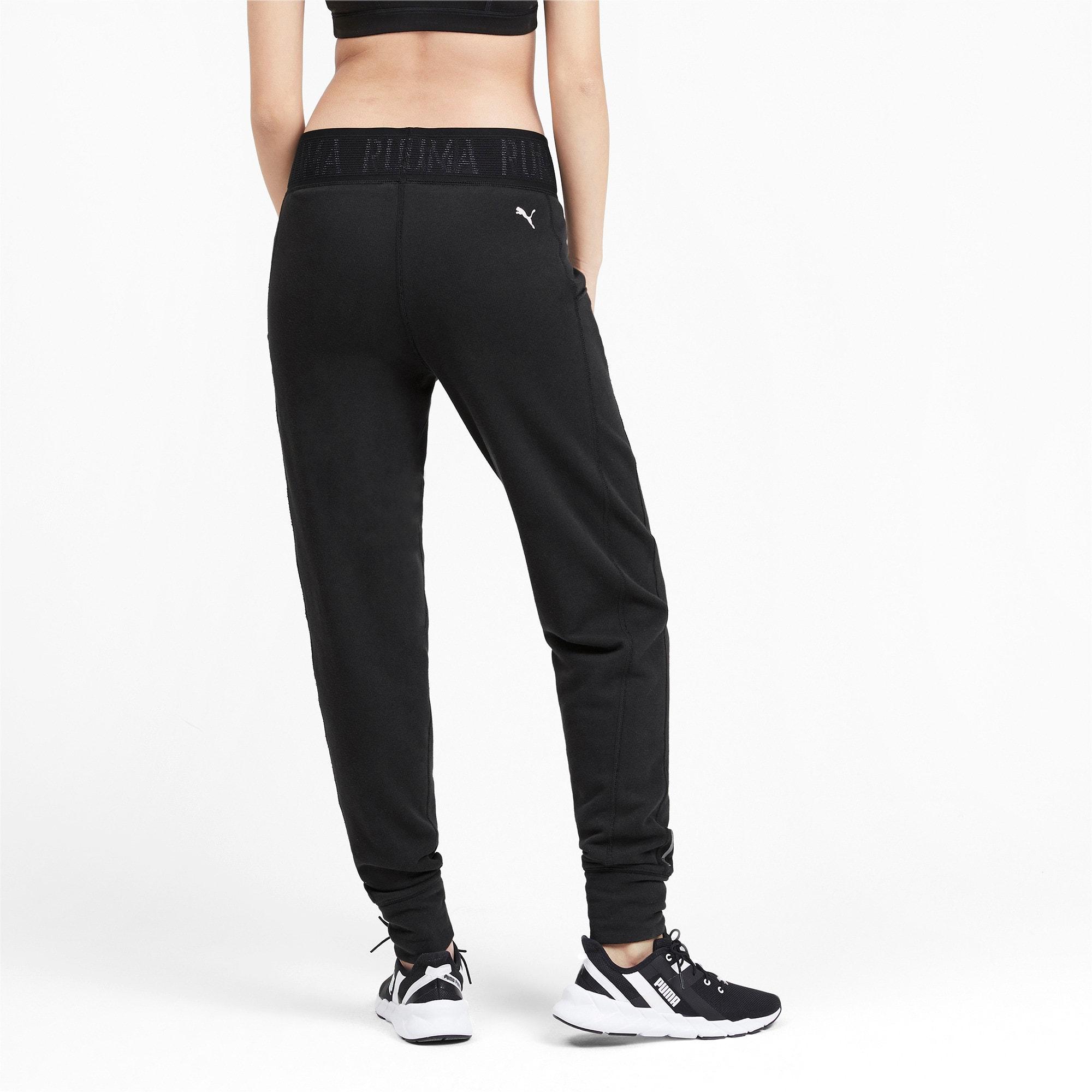 Thumbnail 2 of Logo Women's Sweatpants, Puma Black-Q3, medium