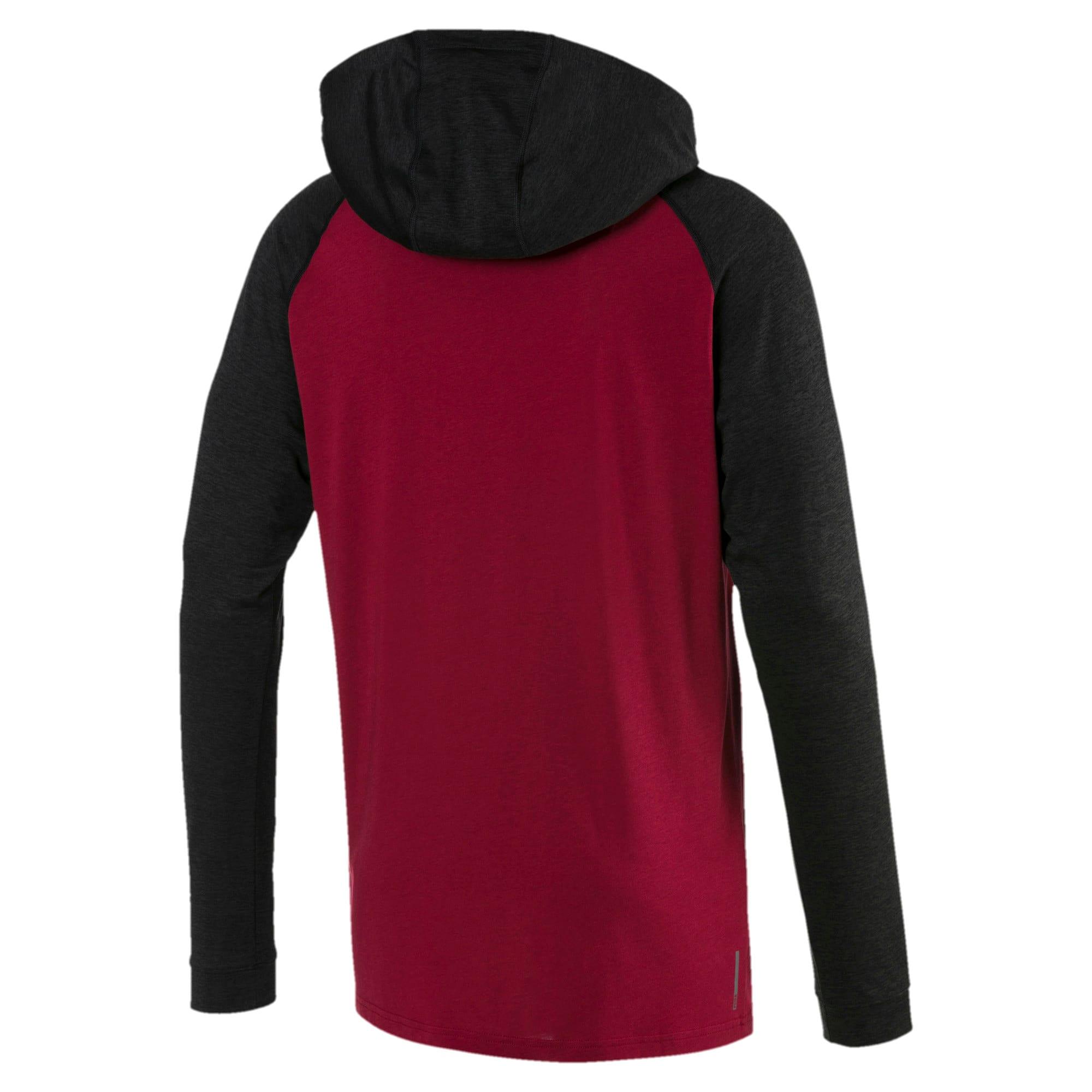 Miniatura 5 de Camiseta Collective con capucha y mangas largas para hombre, Rhubarb-Puma Black Heather, mediano